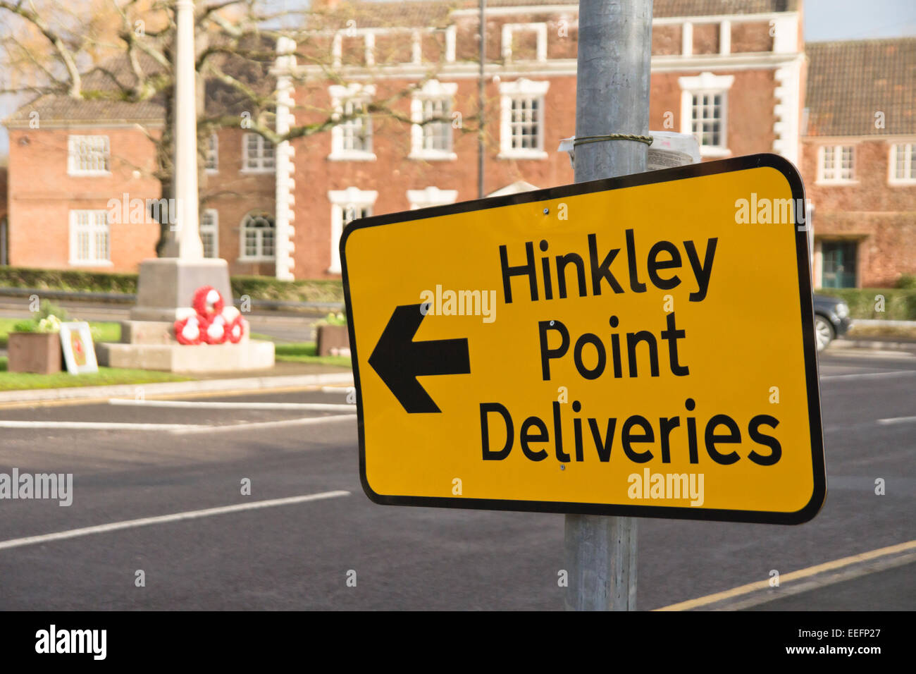 Cannington a village in Somerset near to the Site of Hinkley Point C nuclear Power Station. Hinkley point deliveries - Stock Image
