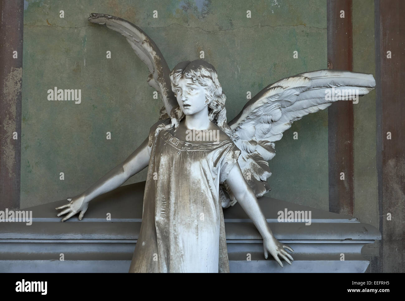Milan, Italy, Gallery of the Monumental Cemetery - Stock Image