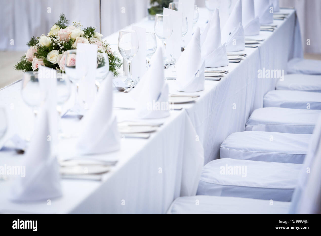 Wedding reception decoration and table setup Stock Photo: 77796061 ...