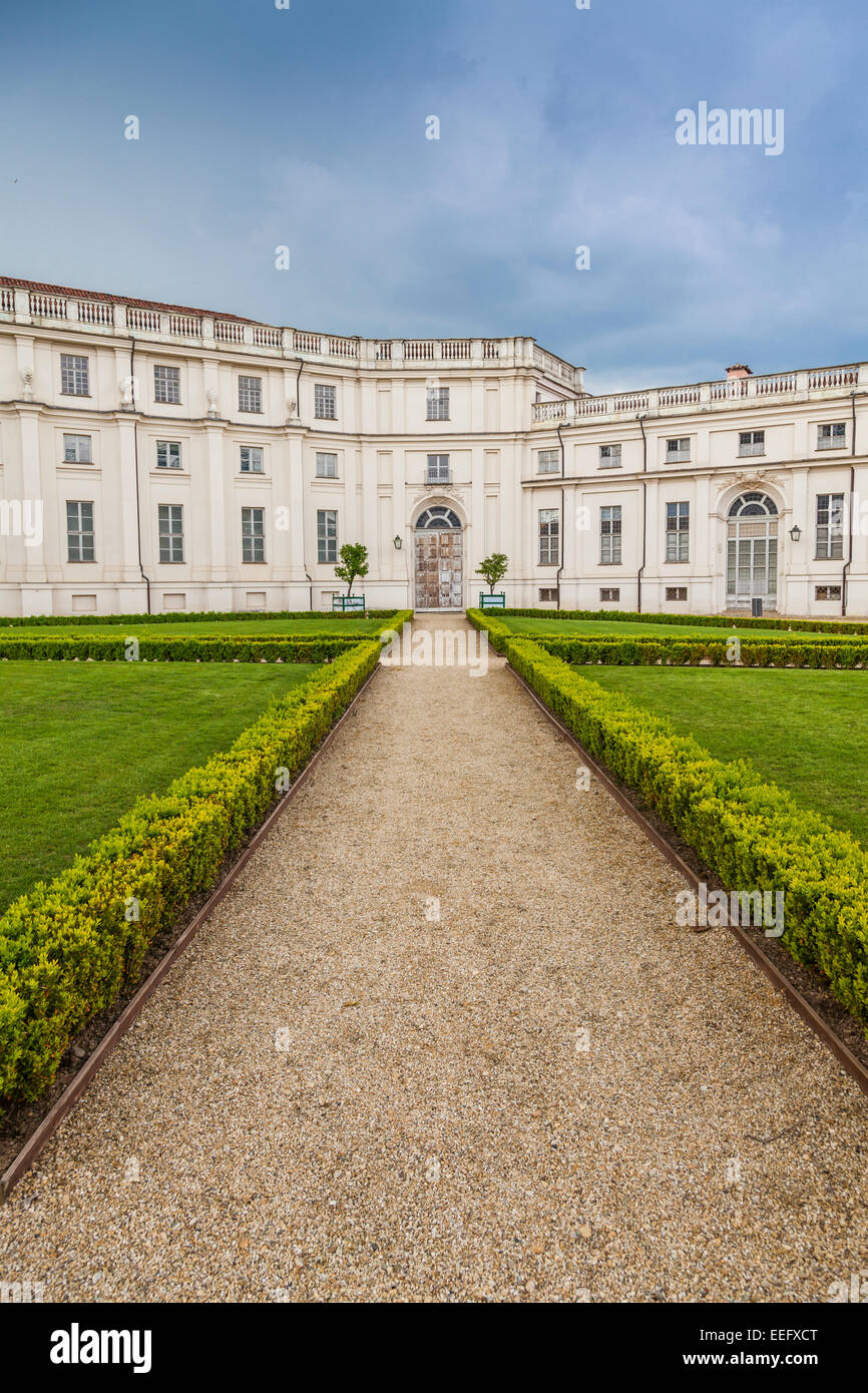 Stupinigi, Italy. Detail of the Palazzina di Stupinigi exterior, Royal residence since to 1946. - Stock Image
