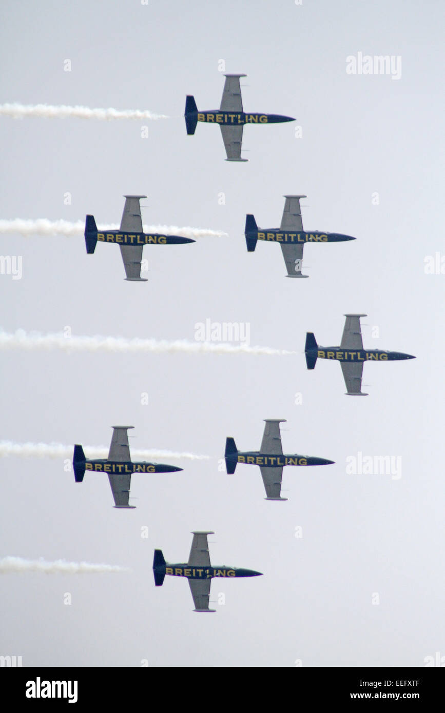 Schoenefeld, Germany, aerobatic team of the Breitling Jet Team - Stock Image