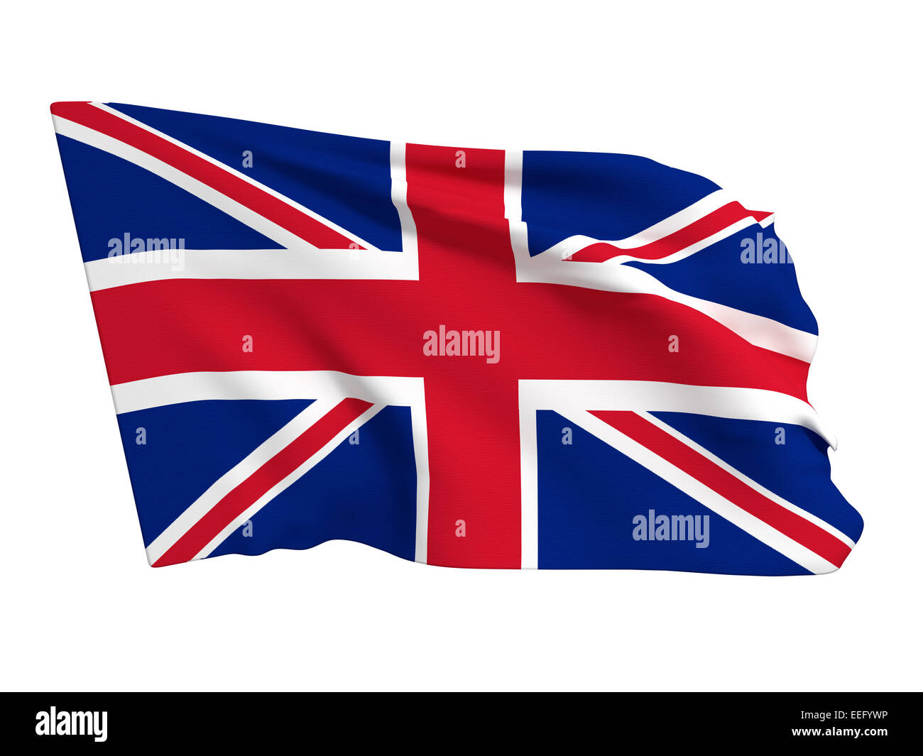 3d rendering of an united kingdom flag on a white background - Stock Image