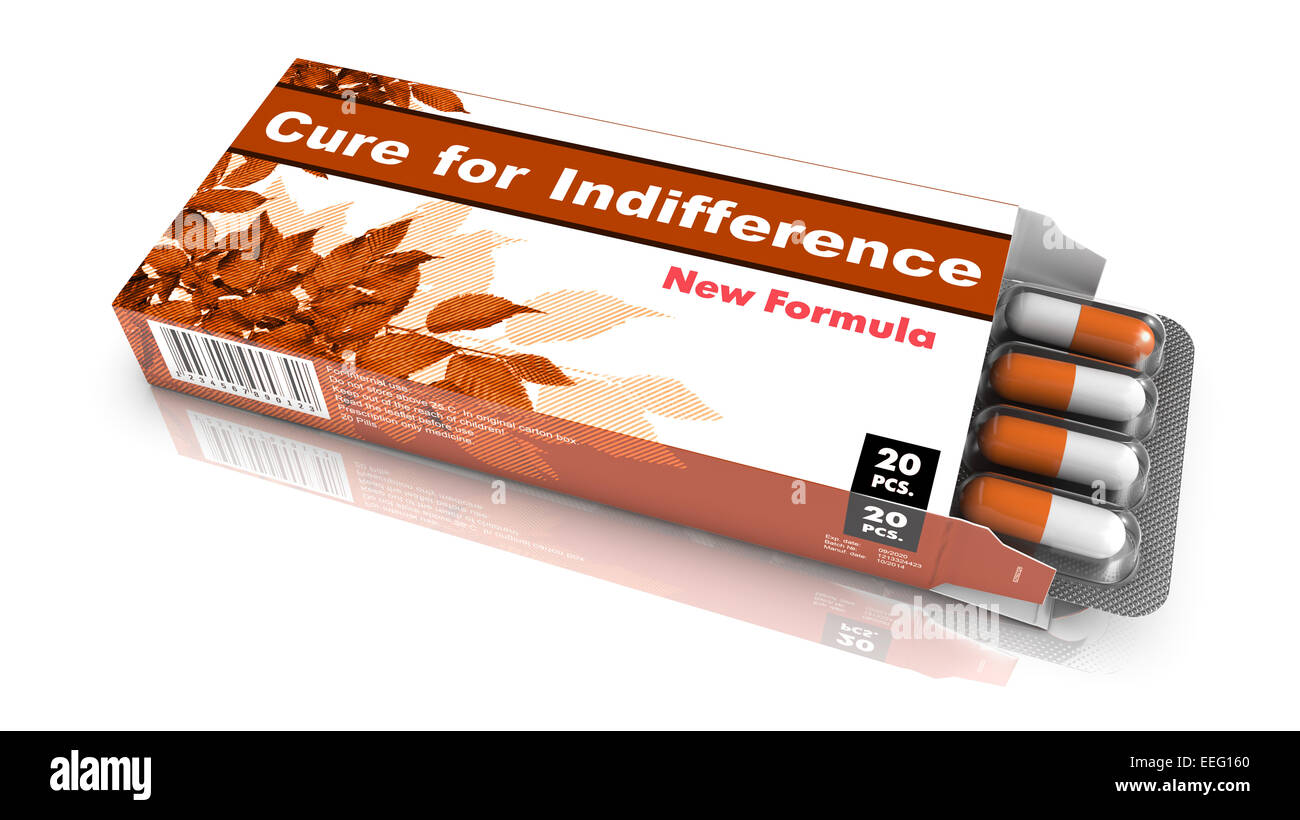 Cure for Indifference - Blister Pack Tablets. - Stock Image