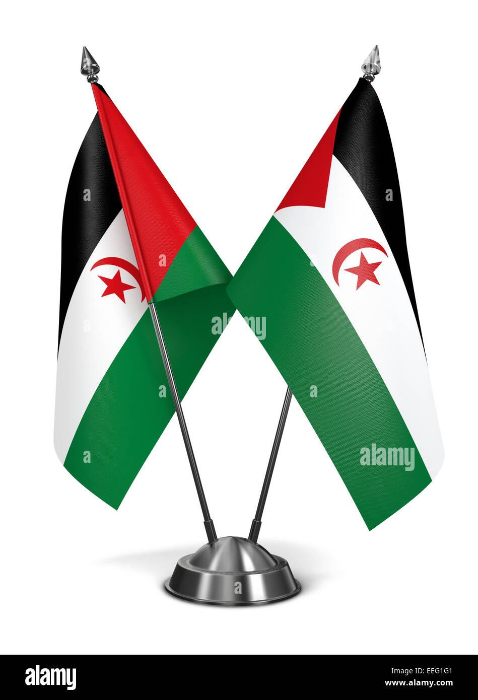 Sahrawi Arab Democratic Republic - Miniature Flags. - Stock Image