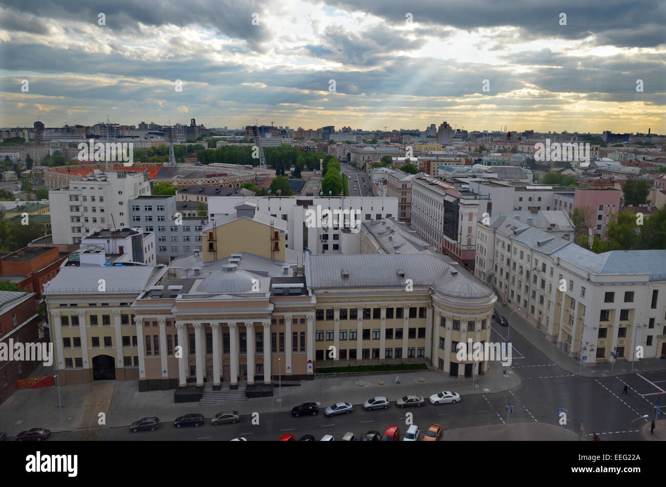 Minsk aerial view - Stock Image