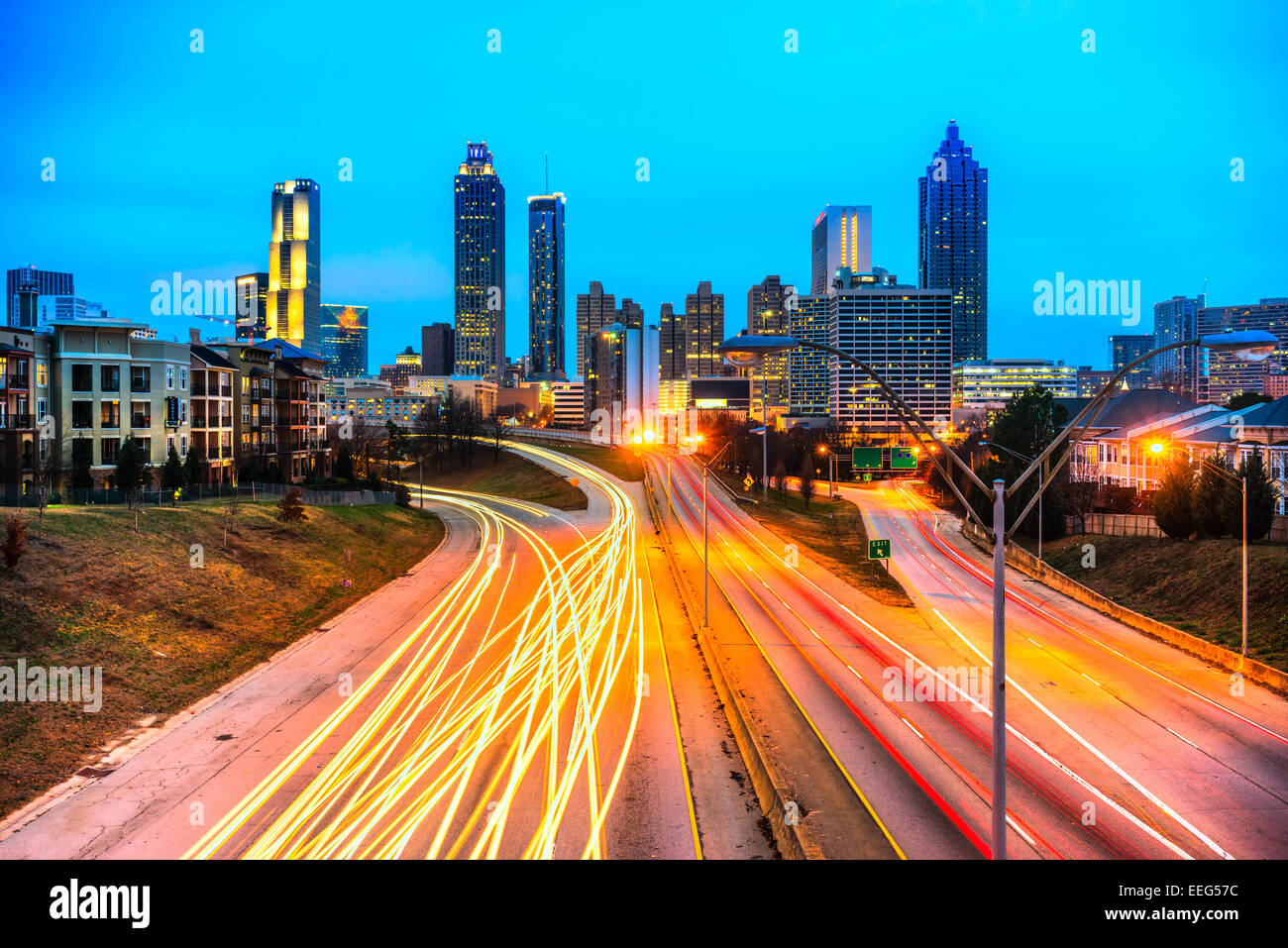 Skyline of downtown Atlanta, Georgia, USA - Stock Image