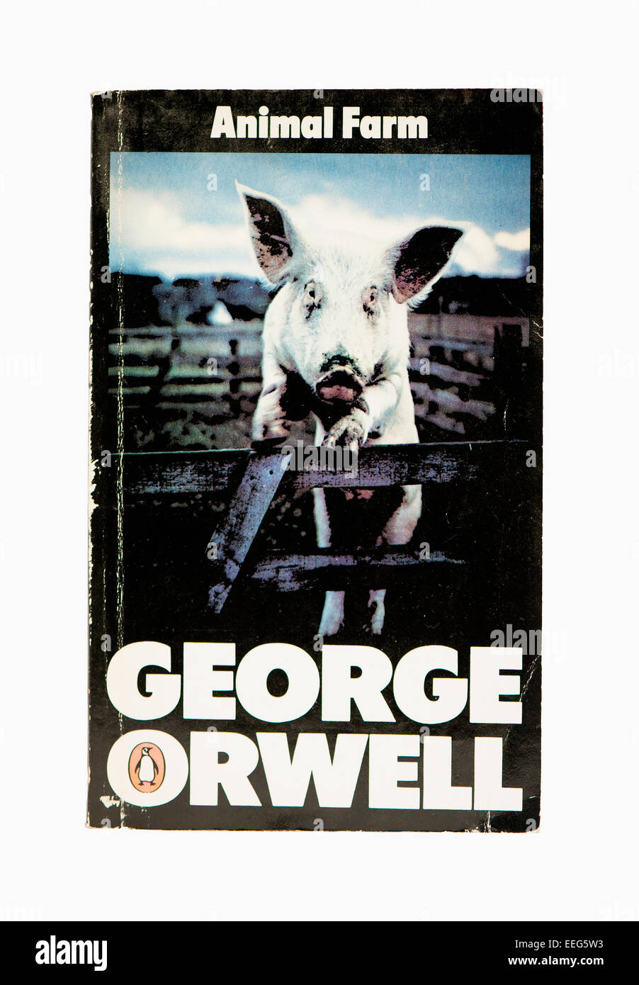 Classic Book Cover Download : George orwell animal farm penguin classic book cover stock