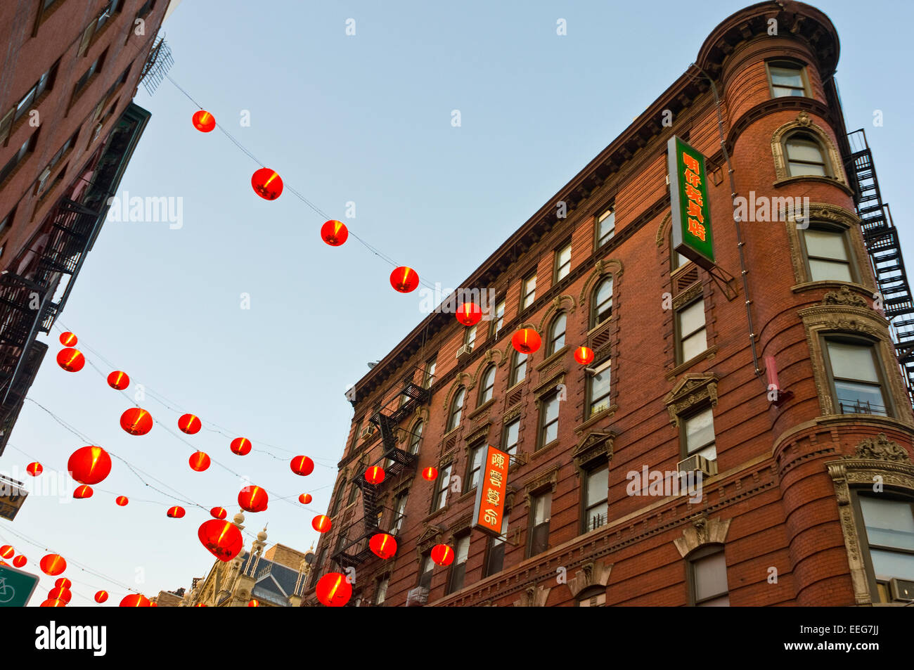 New York, NY -  17 April 2009 - Red Chinese Lanterns on Eldridge Street in Chinatown ©Stacy Walsh Rosenstock/Alamy Stock Photo