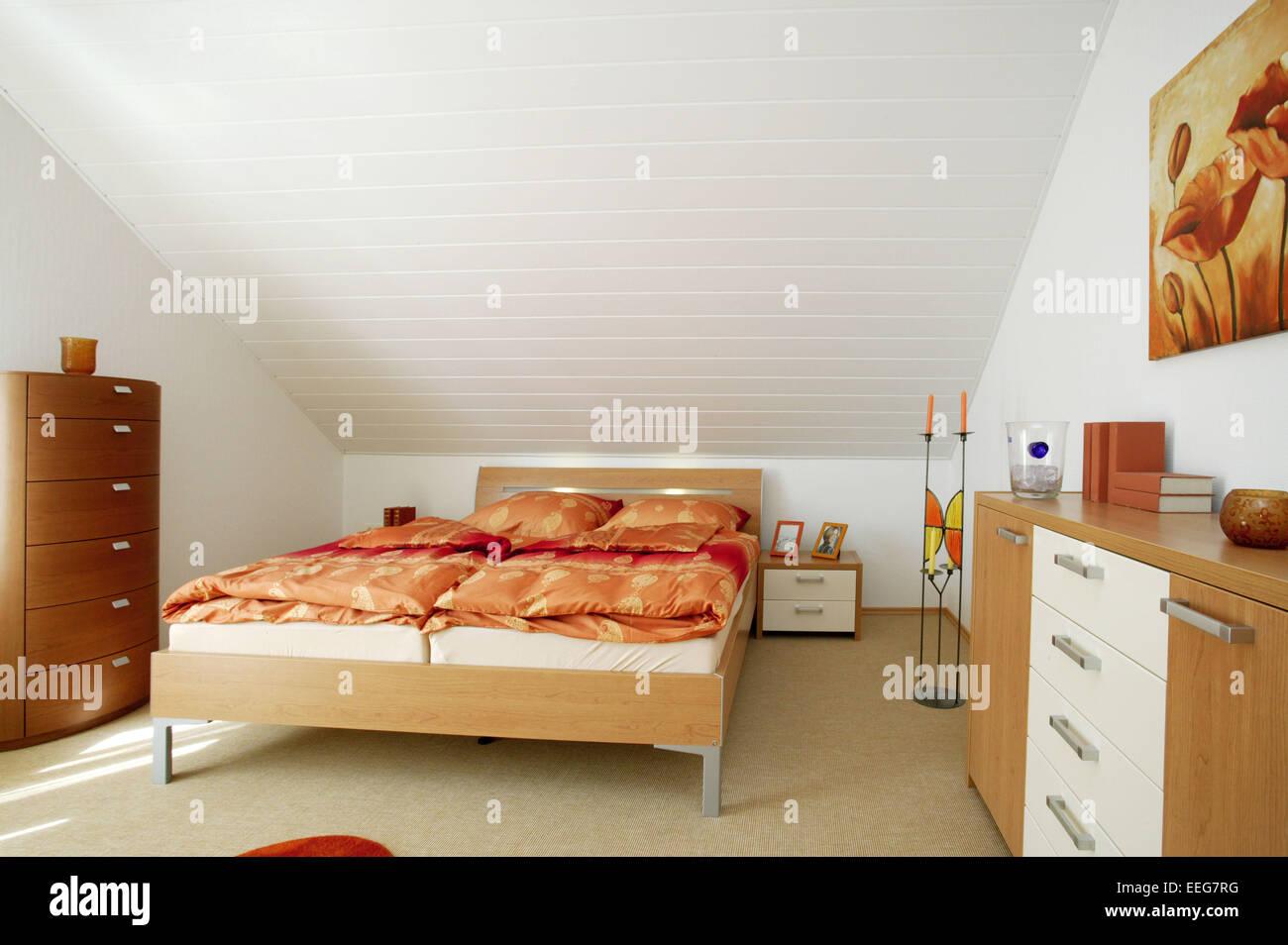 Schlafzimmer wohnen innenaufnahme inneneinrichtung wohnung wohnraum stock photo 77804036 alamy - Inneneinrichtung schlafzimmer ...
