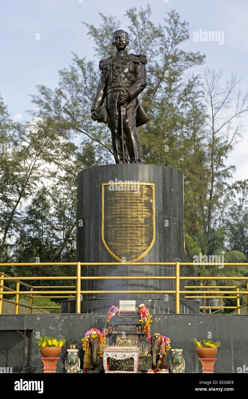 Thailand, Suedthailand, Songklah, Statue, Standbild, Monument, Admiral Phra Boromawong thir Kromluang Chumphon, - Stock Image