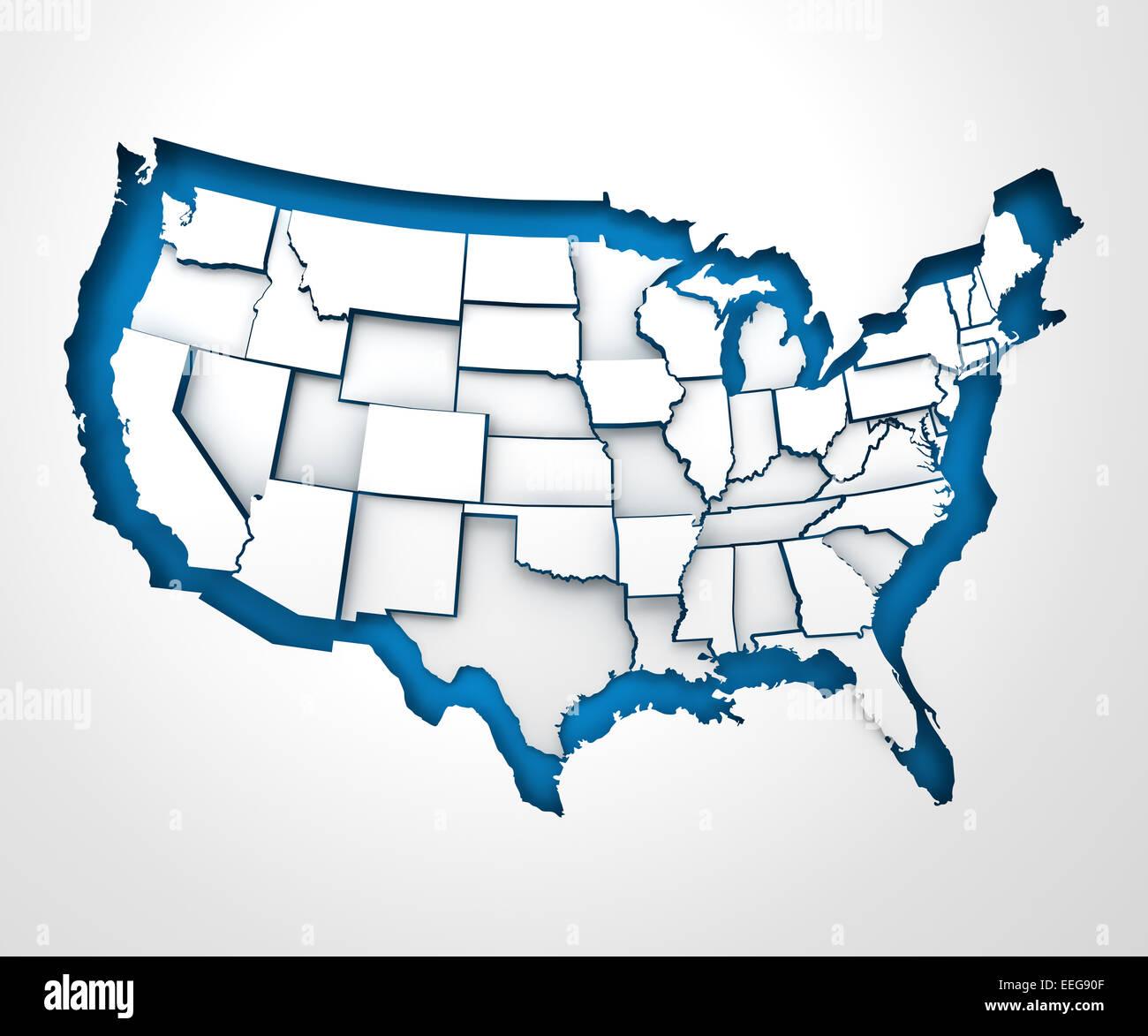 United States Map Border Stock Photos & United States Map Border ...