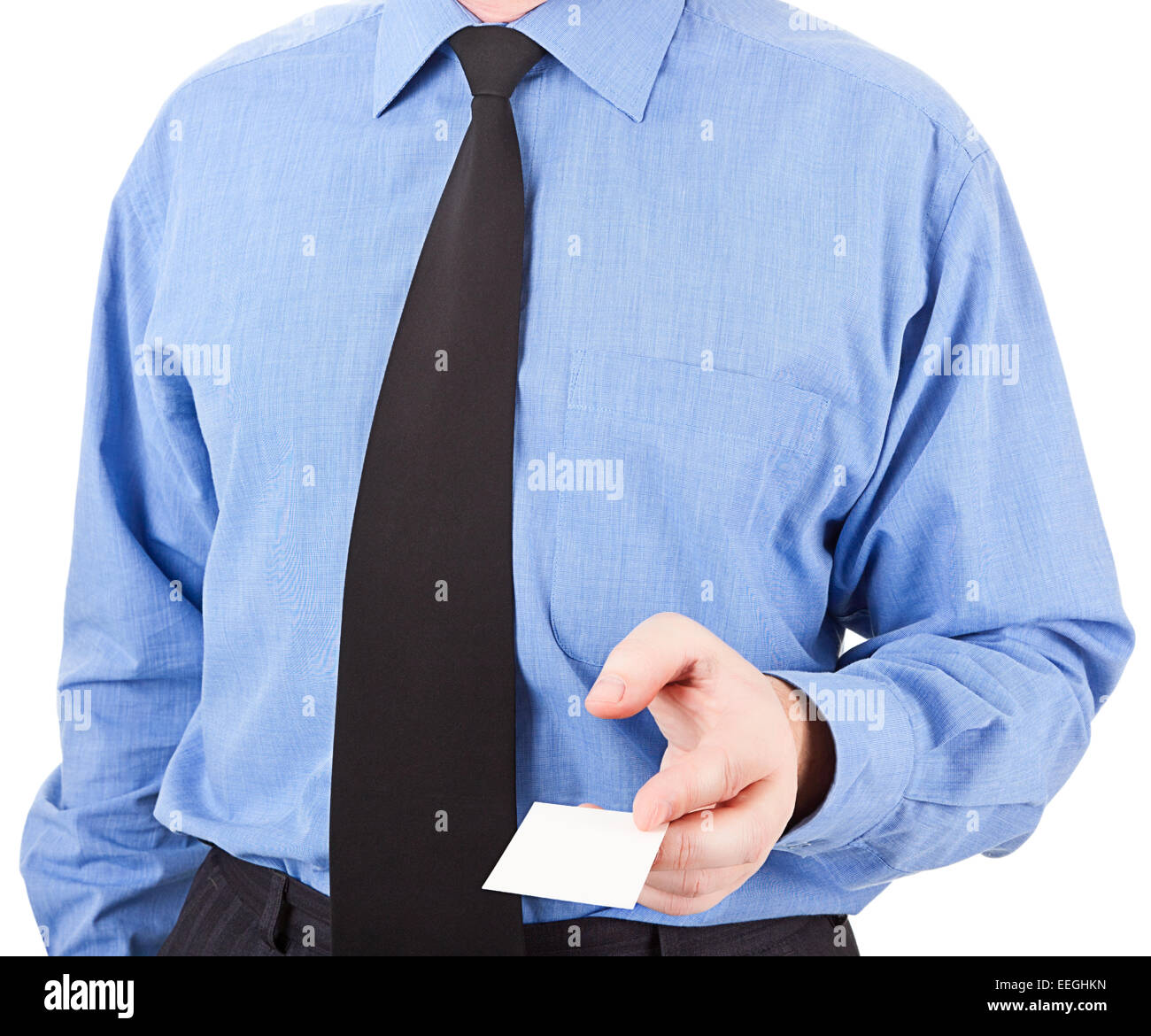 figure of a businessman with gestures on a white background. images collected from multiple photos - Stock Image