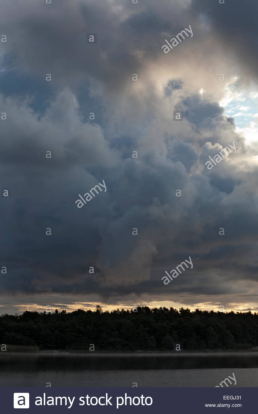 Morning in the archipelago of  Turku - Stock Image