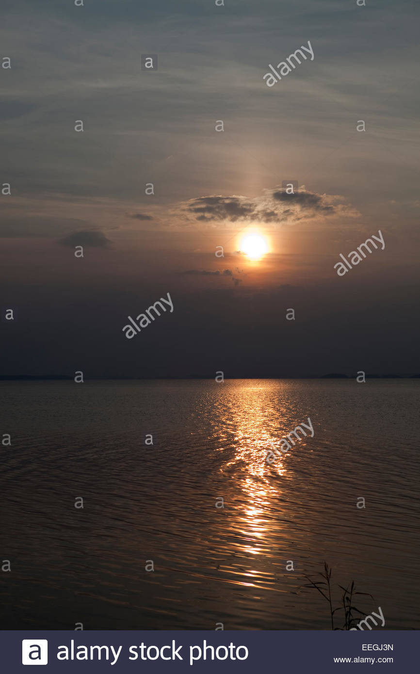 Sunrise in the archipelago of Turku - Stock Image