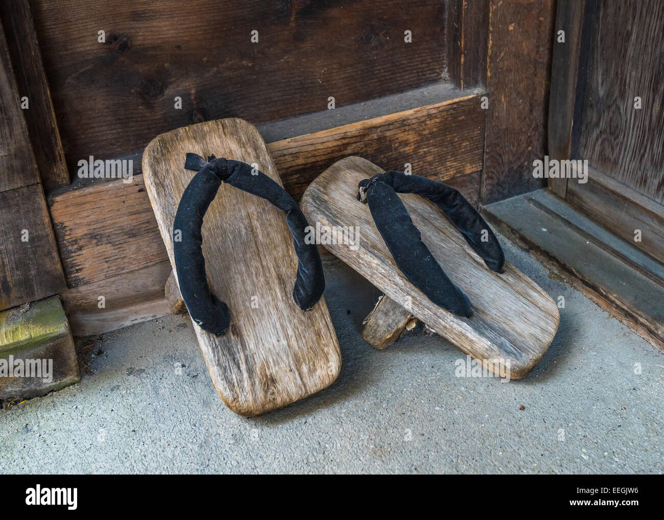 Geta, traditional japanese footwear - Stock Image