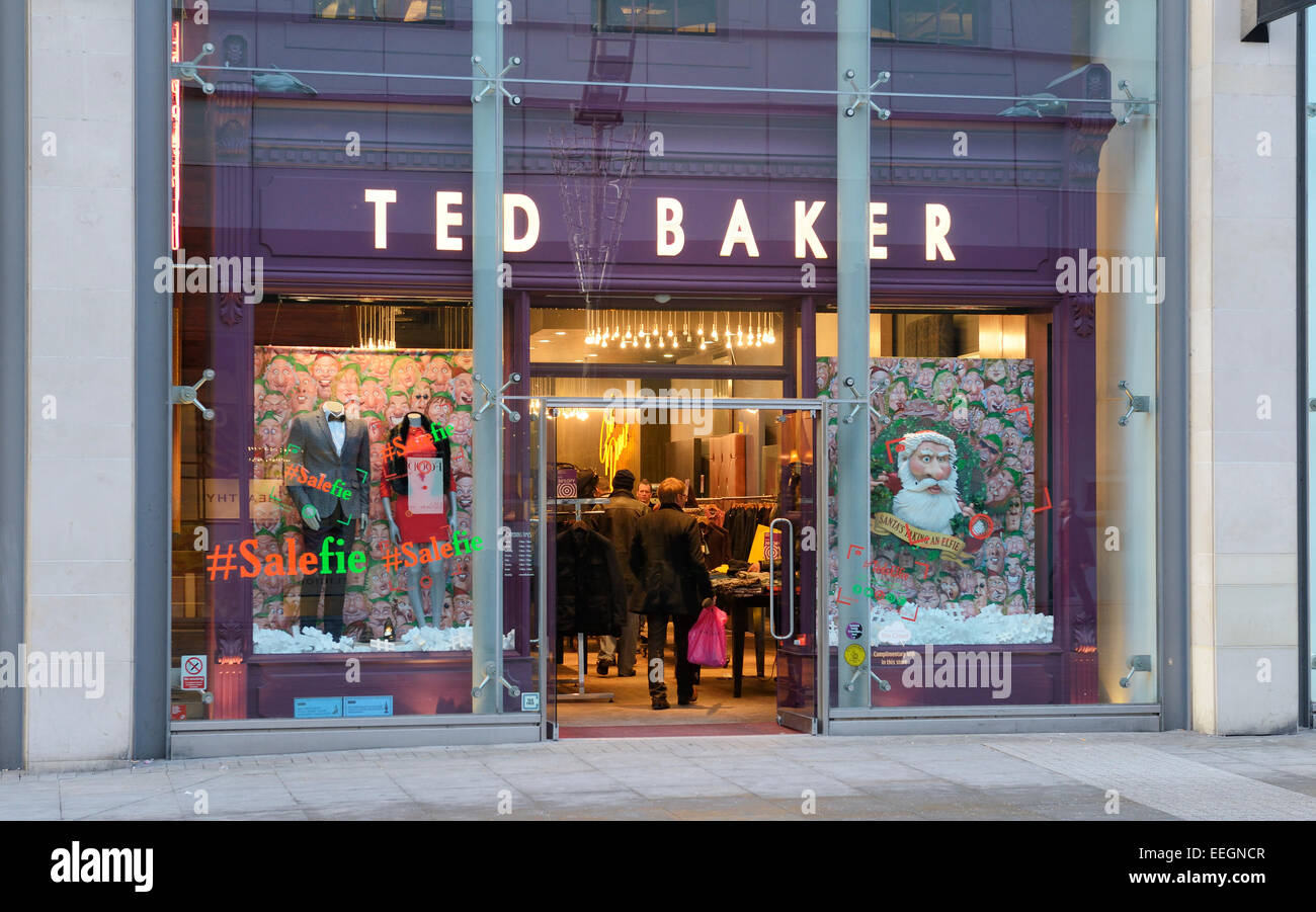 197c984fe9fb TED BAKER iconic fashion clothing shop in Manchester Stock Photo ...