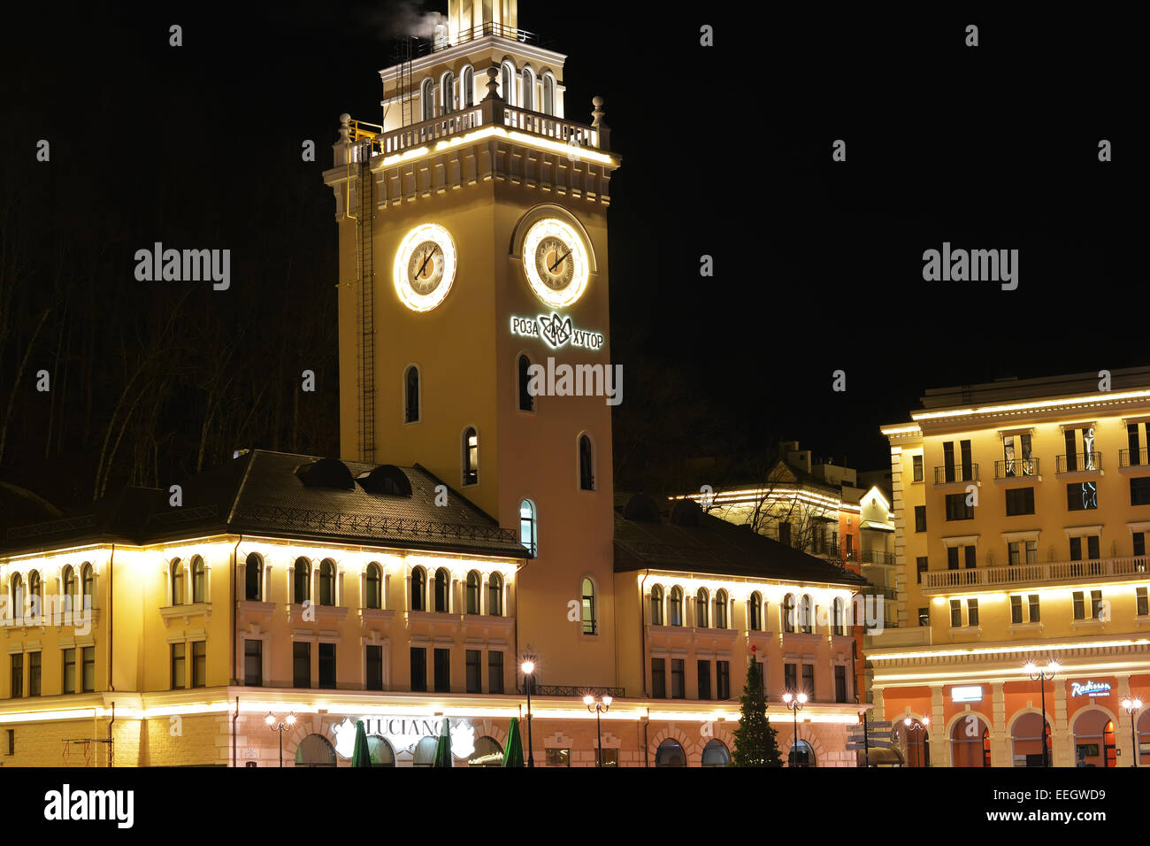 Sochi Rosa Khutor Krasnaya Polyana - Stock Image