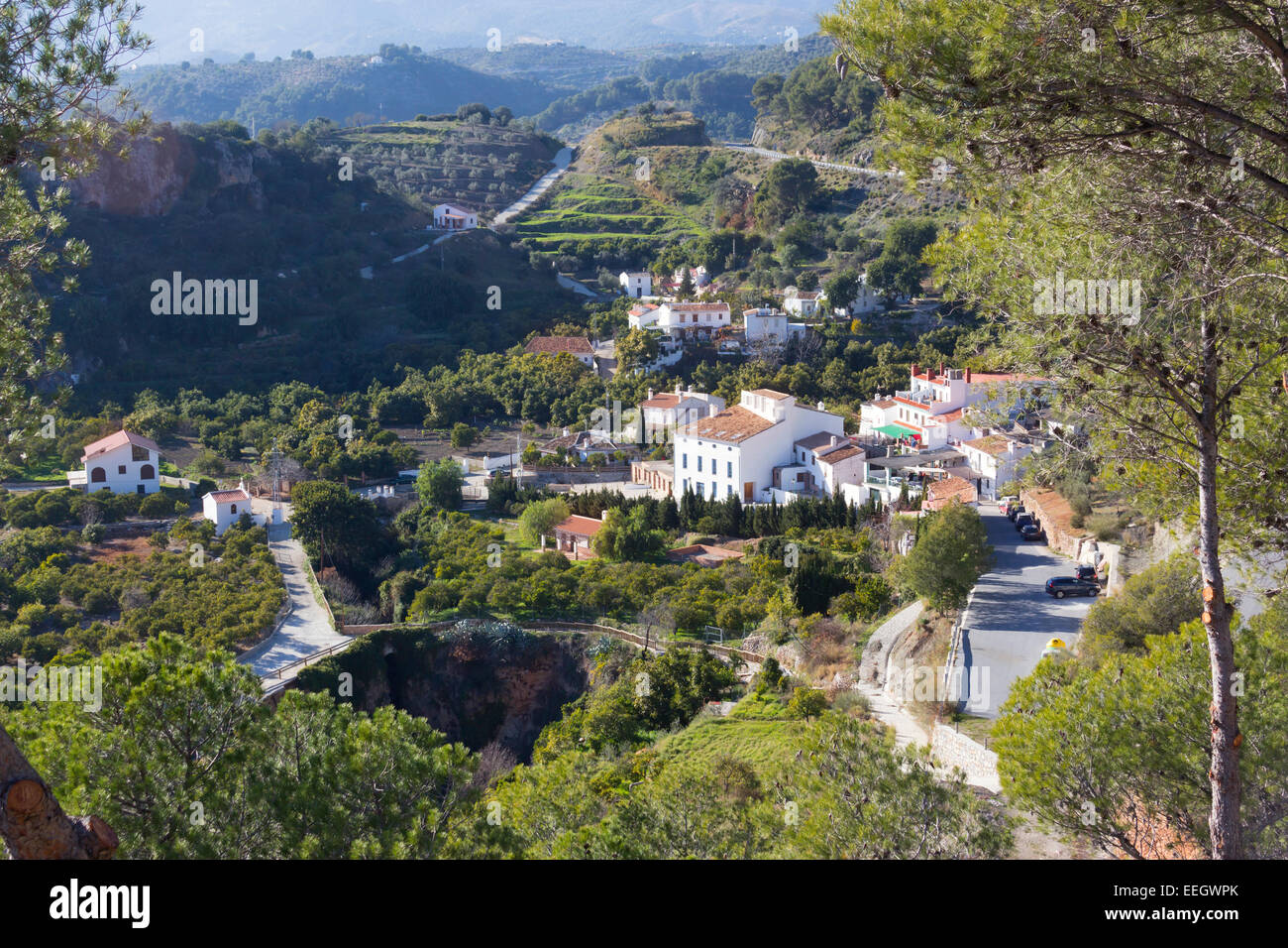 Jorox,  Alozaina, Málaga, Andalucía, Spain. This small hamlet had a total 0f 24 inhabitants in 2012. - Stock Image