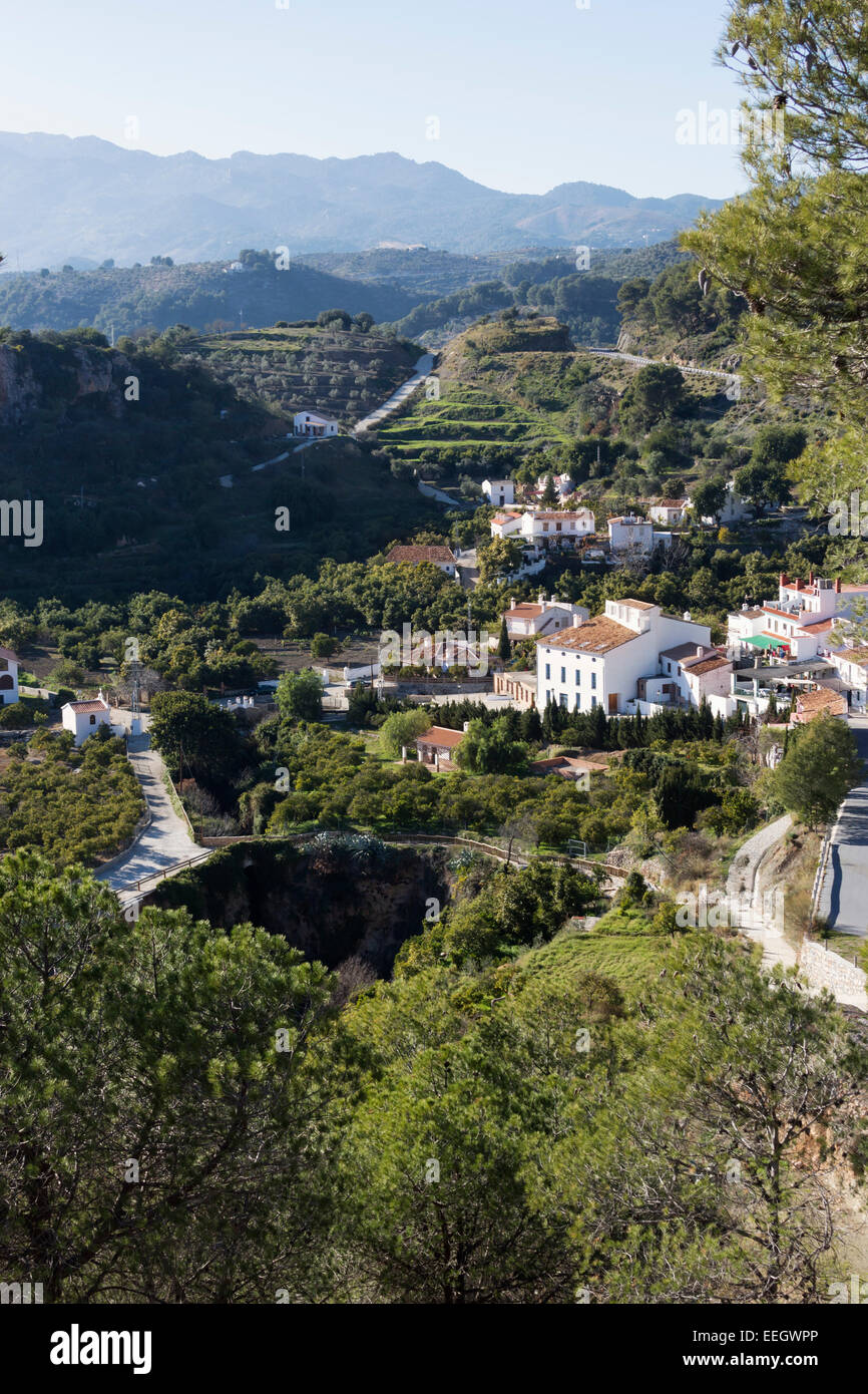 Jorox,  Alozaina, Málaga, Andalucía, Spain. This small hamlet had a total of 24 inhabitants in 2012. - Stock Image