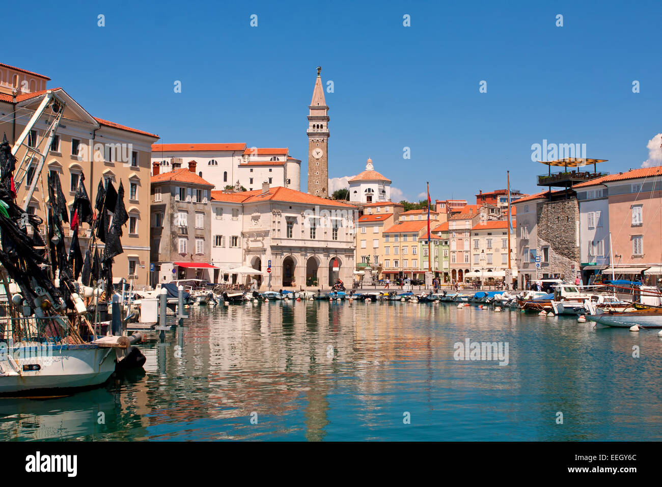 centre of city Piran - Slovenia - Stock Image