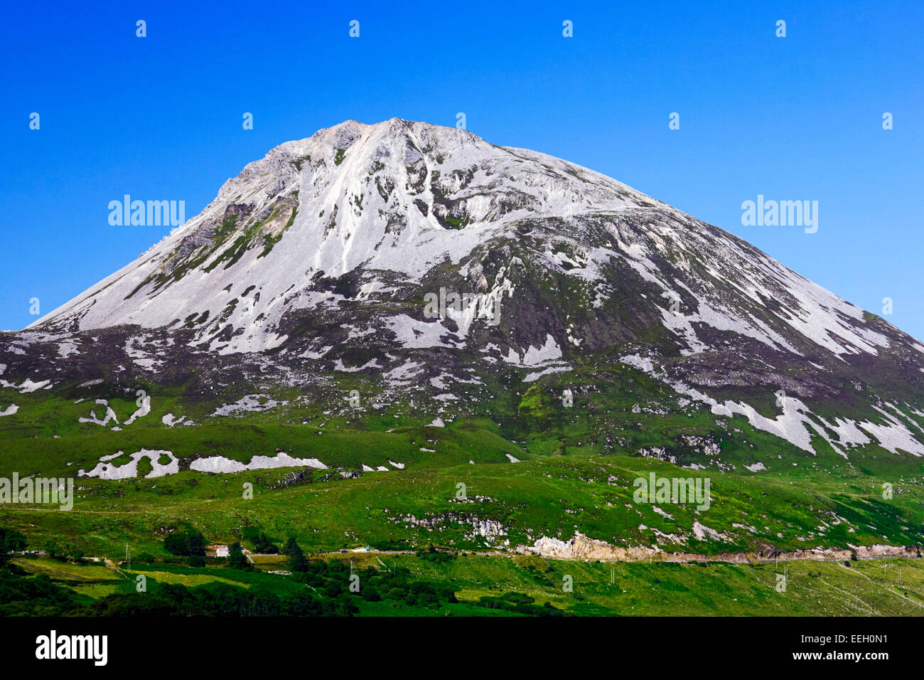 Errigal mountain in County Donegal Ireland - Stock Image