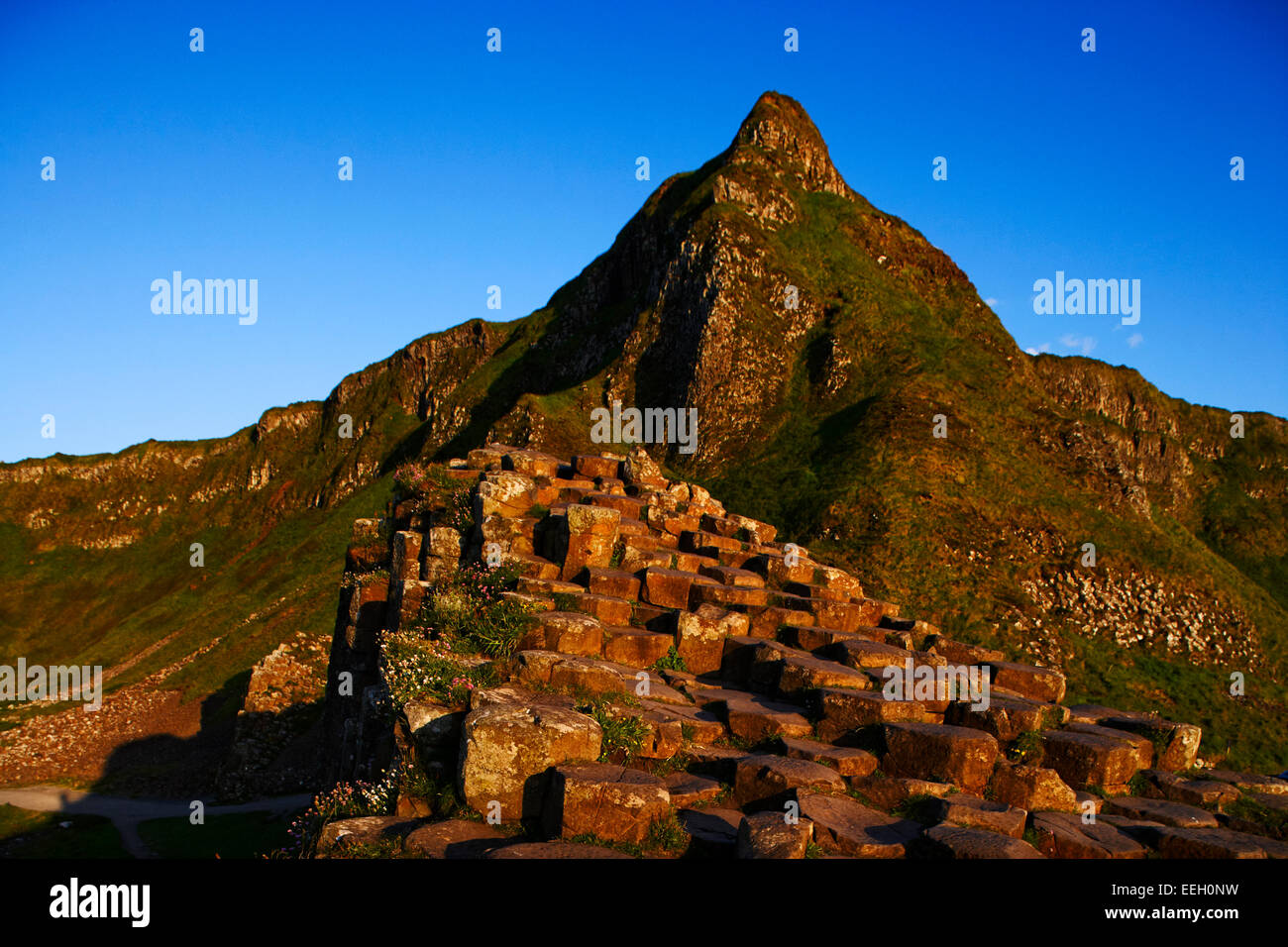 Giants Causeway north antrim coast northern ireland - Stock Image