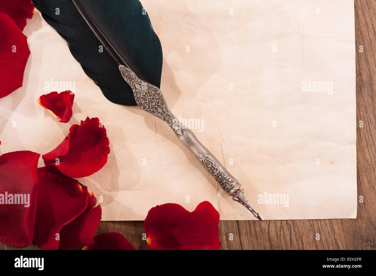 St. Valentines Day love message - Stock Image