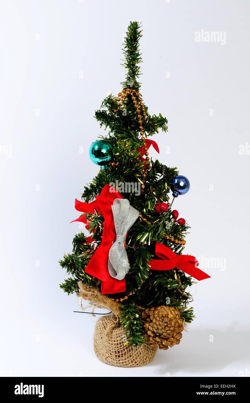 Christmas Tree Decorations And Nativity Christian Catholic Isolated Stock Photo Alamy