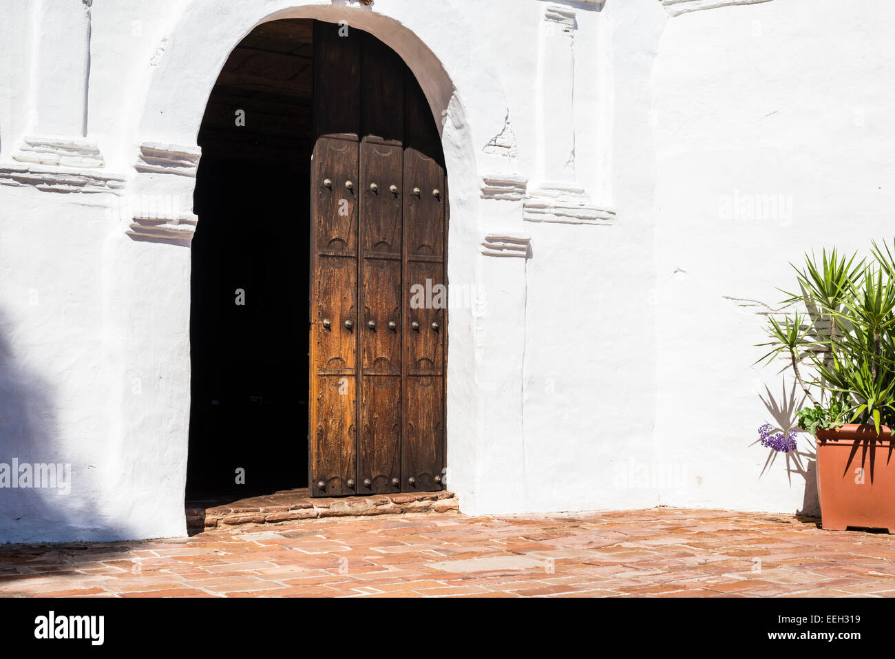 Front Door At The Mission Basilica San Diego De Alcala Building