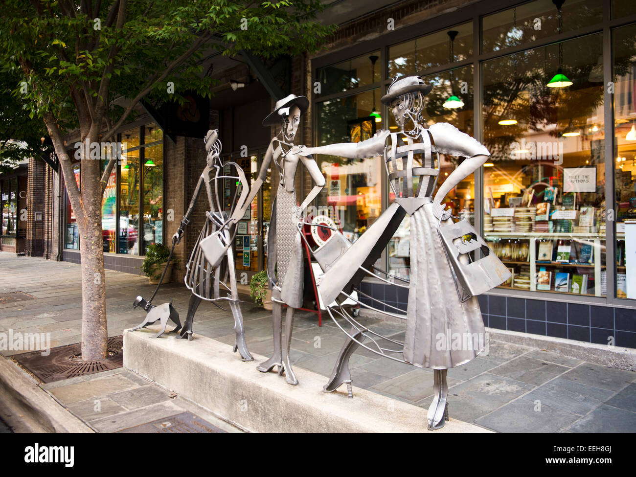 One of many public artworks in downtown Asheville NC - Stock Image