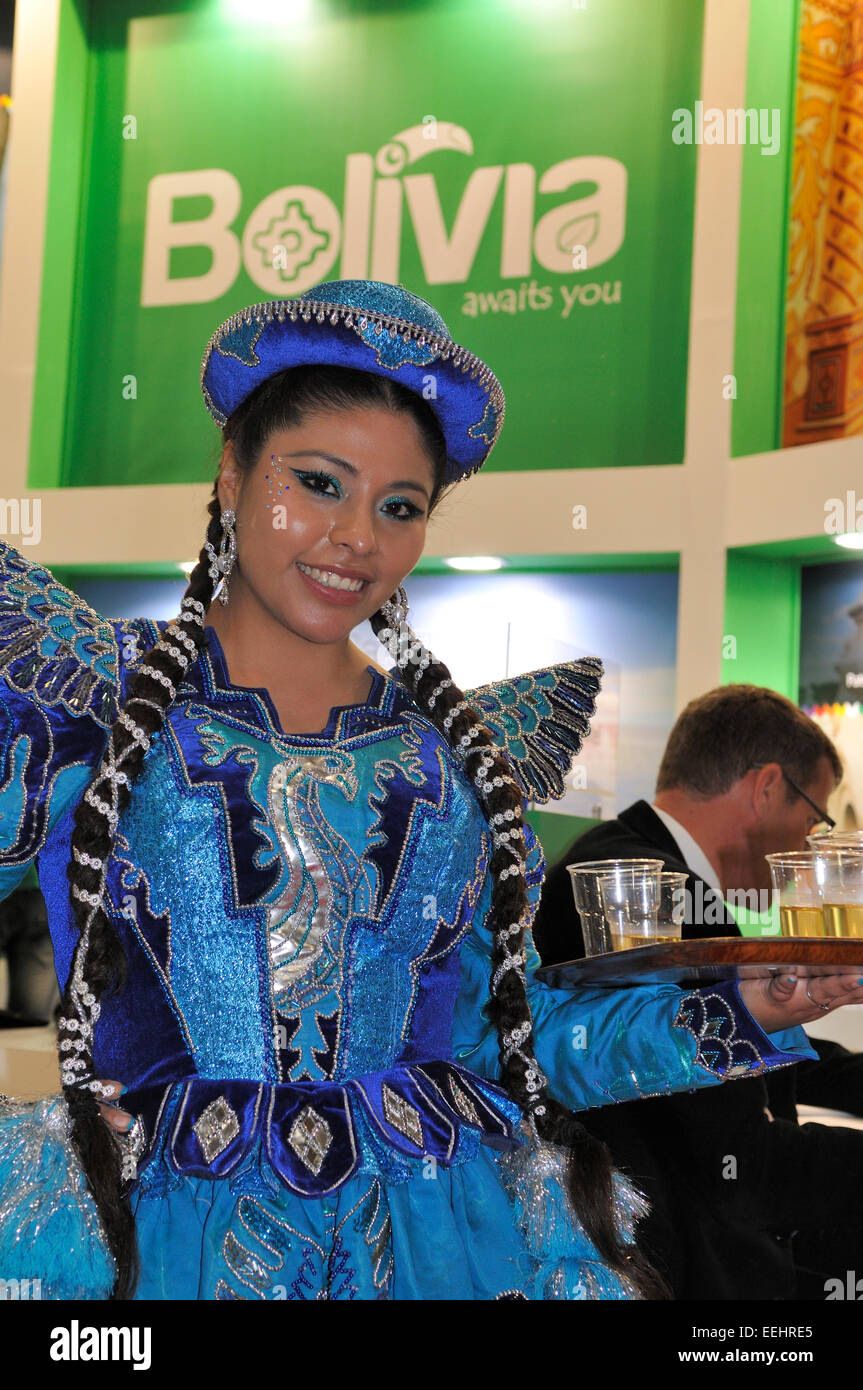 Expo Stand Bolivia : London world travel market excel stock photos