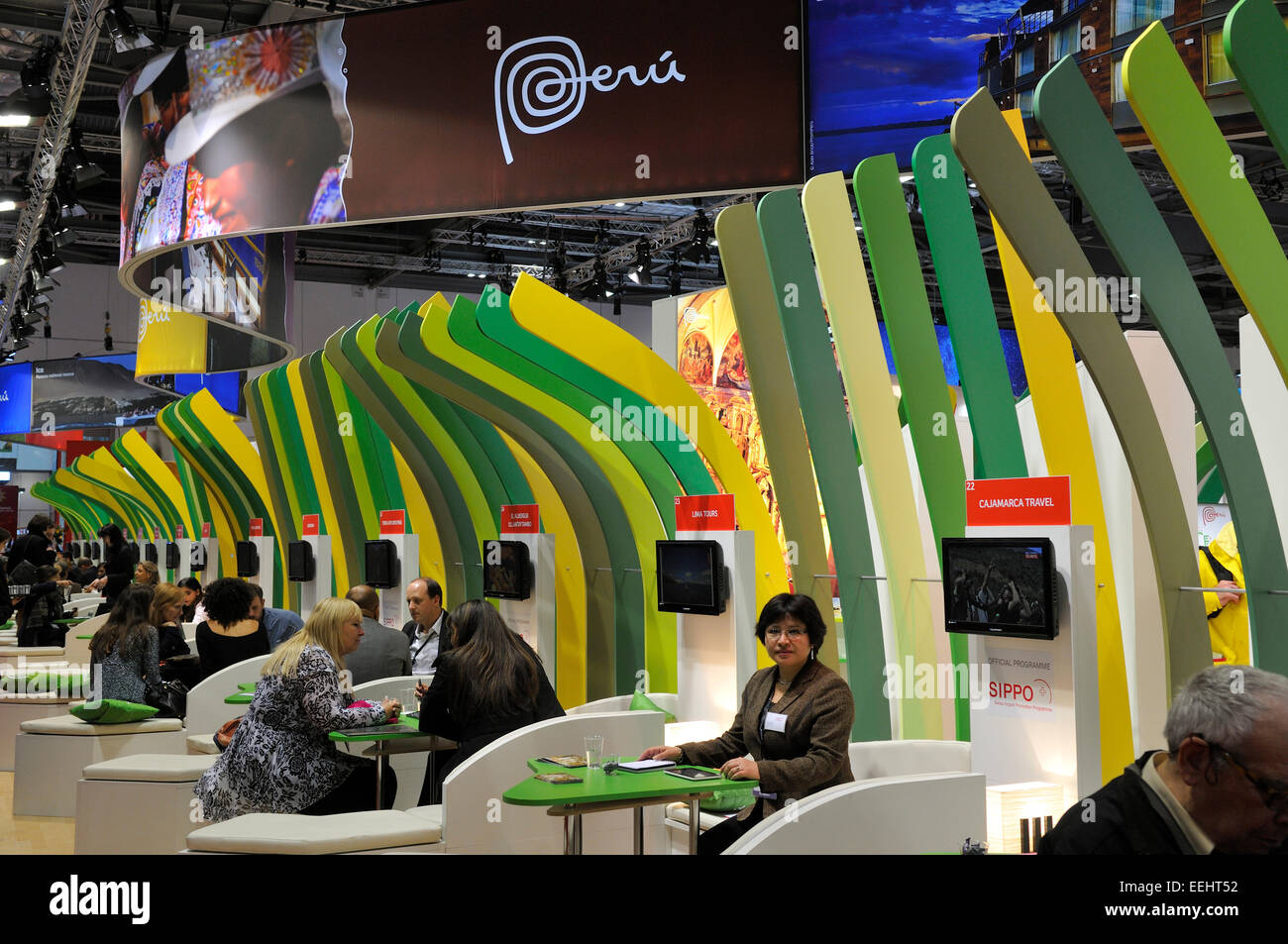 Peruvian stand at ExCel London World Travel Mart (WTM) November 2014 exhibition - Stock Image