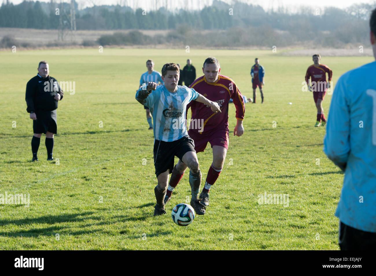 Sunday League football, Leamington Spa, Warwickshire, UK - Stock Image