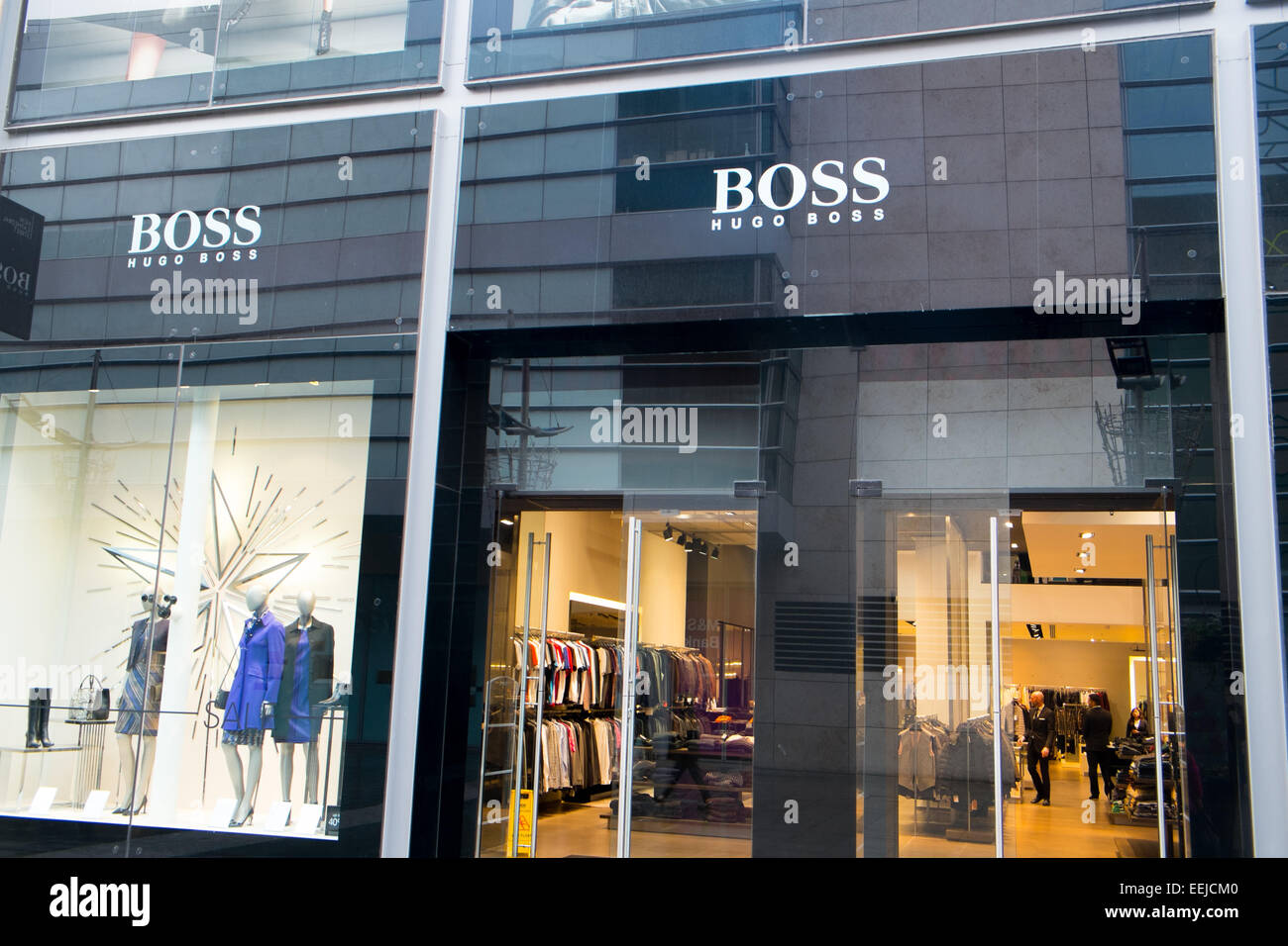 9365f320323 Hugo Boss store in new cathedral street, Manchester city Stock Photo ...