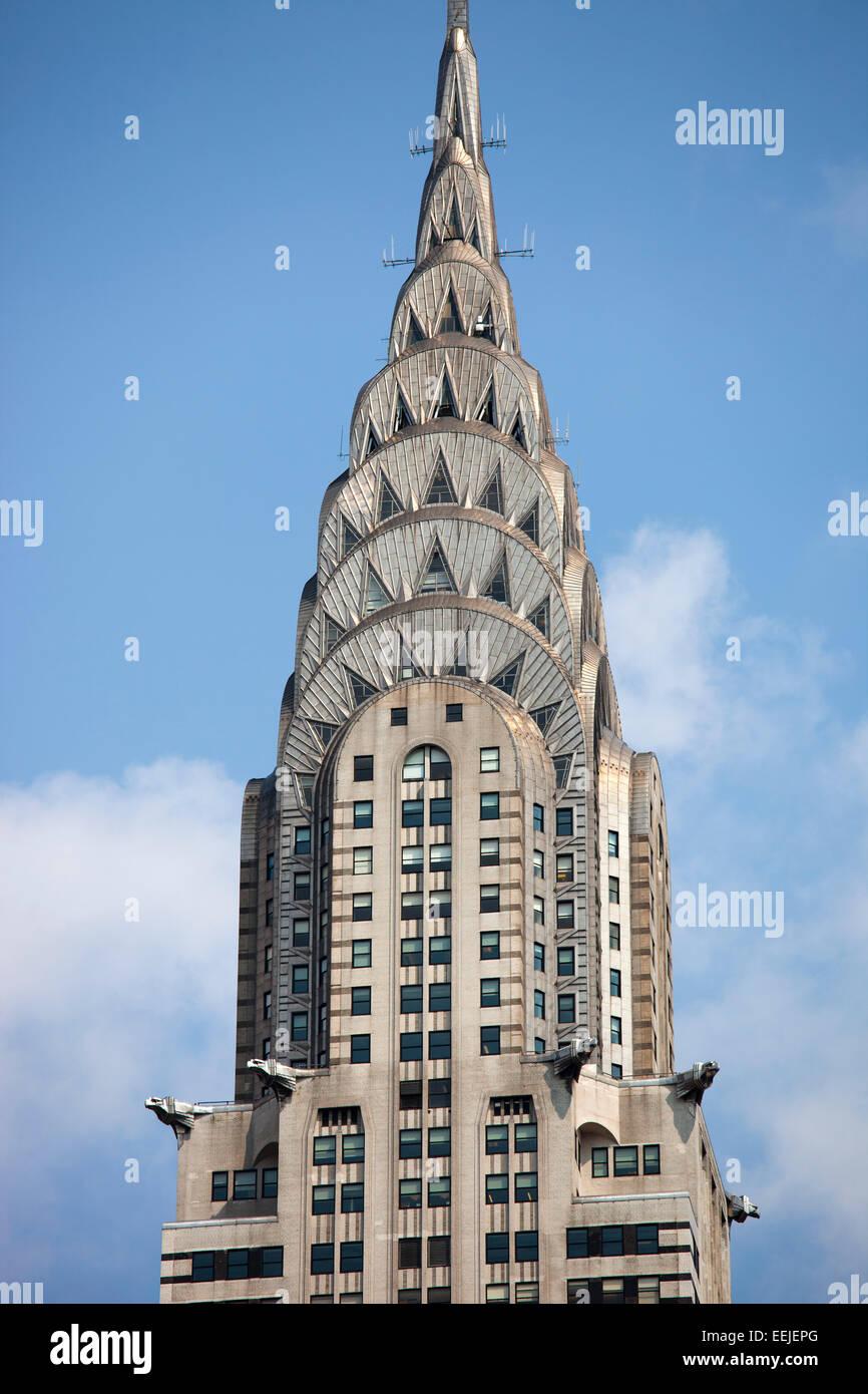 chrysler building, skyscraper,  midtown,  manhattan, new york, usa, america - Stock Image