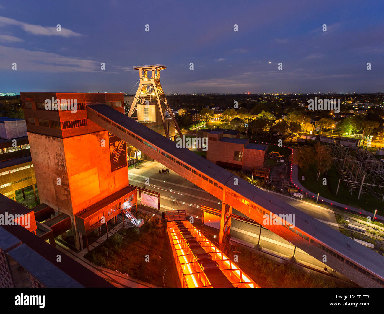 Zeche Zollverein, UNESCO world heritage site, former, the biggest coal mine in the world, Essen, Germany - Stock Image