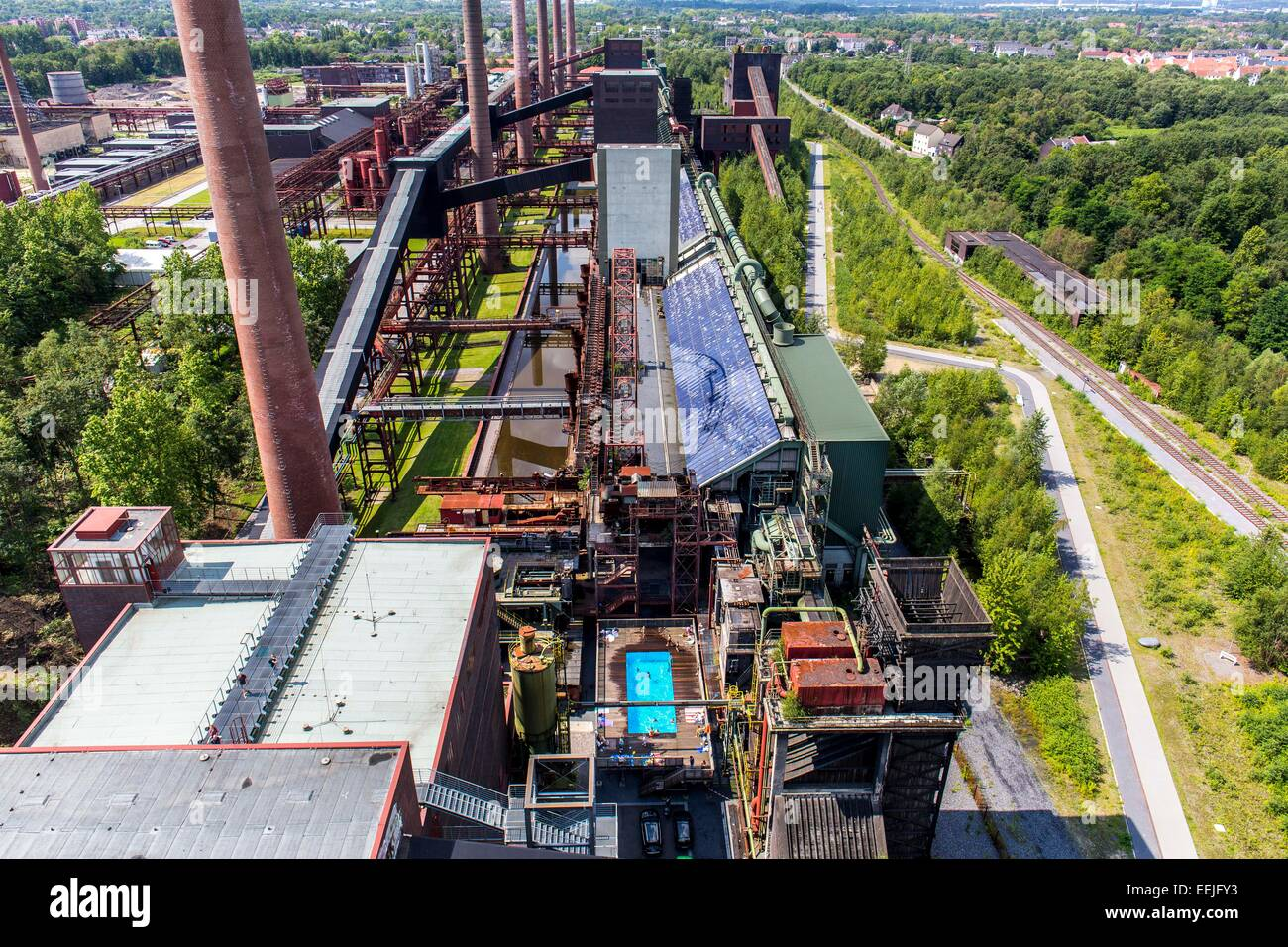Zollverein coking plant, UNESCO world heritage site, Essen, Germany - Stock Image
