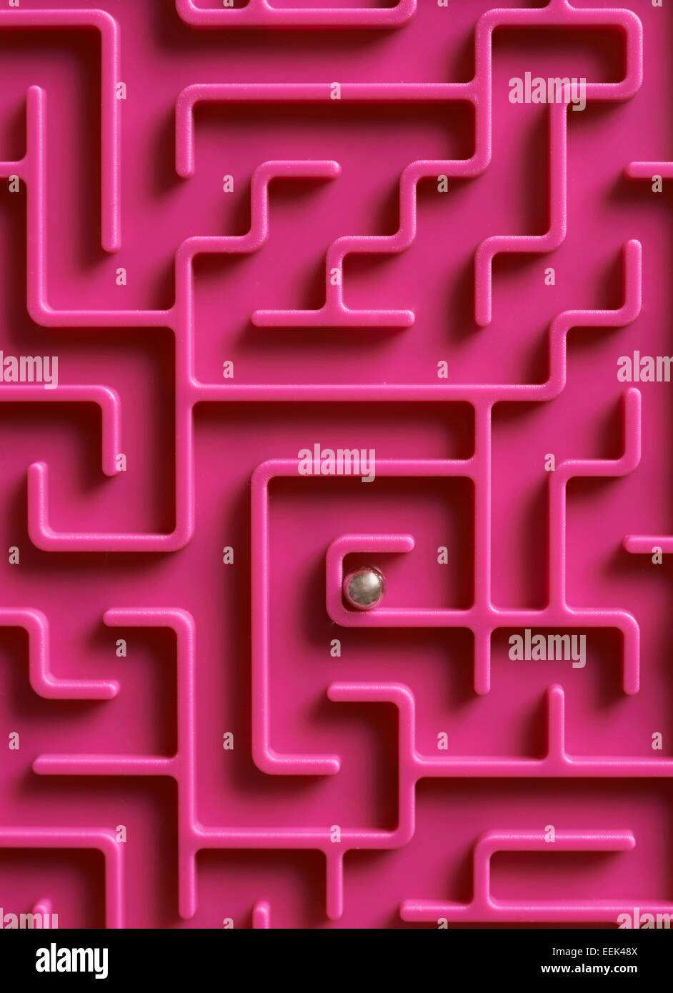 Ball At The Centre Of Maze - Stock Image