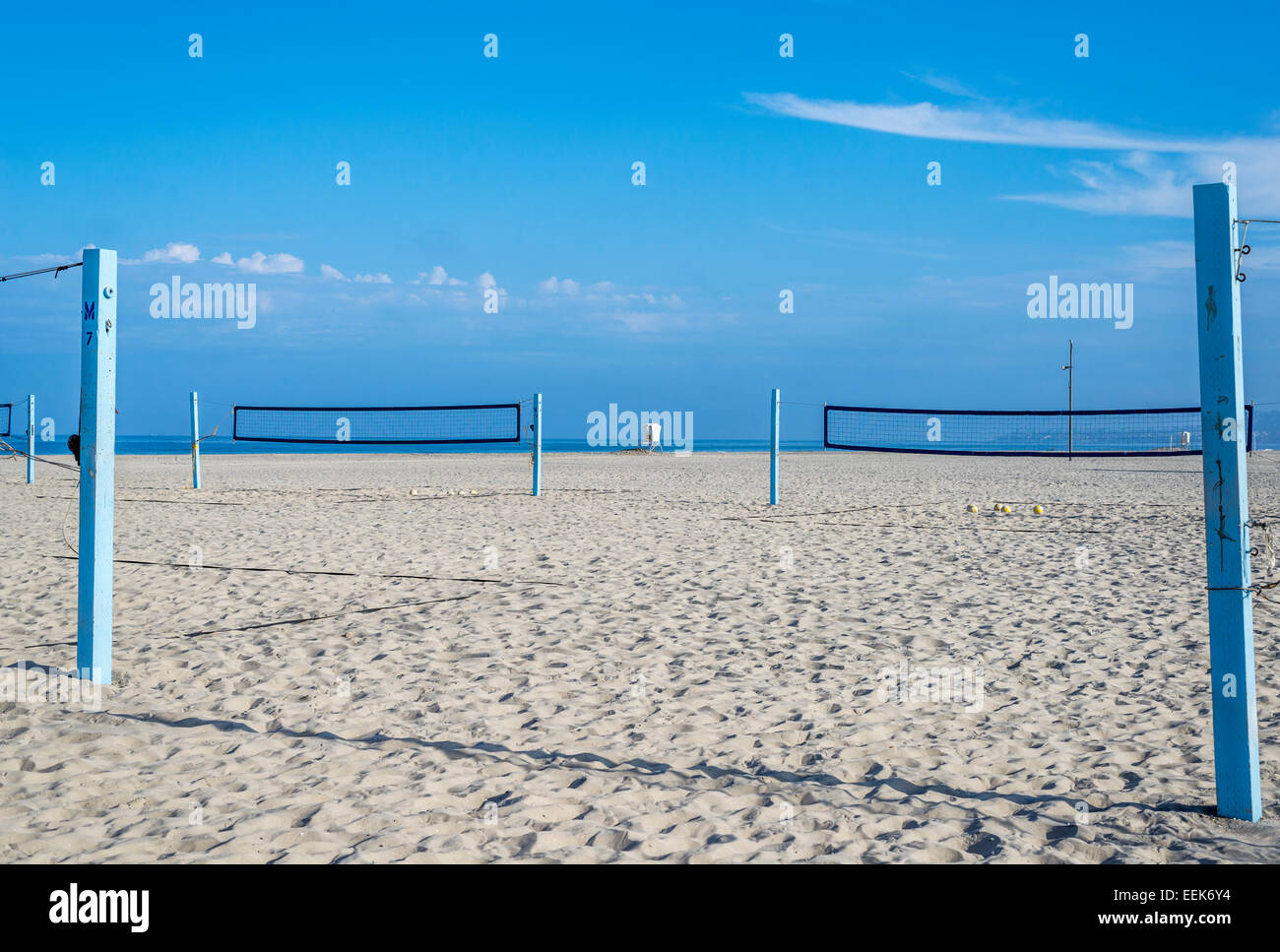 Beach Volleyball Courts South Mission Beach San Diego California Stock Photo Alamy