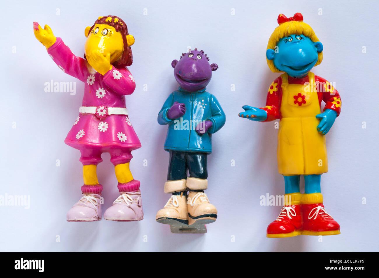 Tweenies Milo, Bella and Fizz characters toys - Stock Image