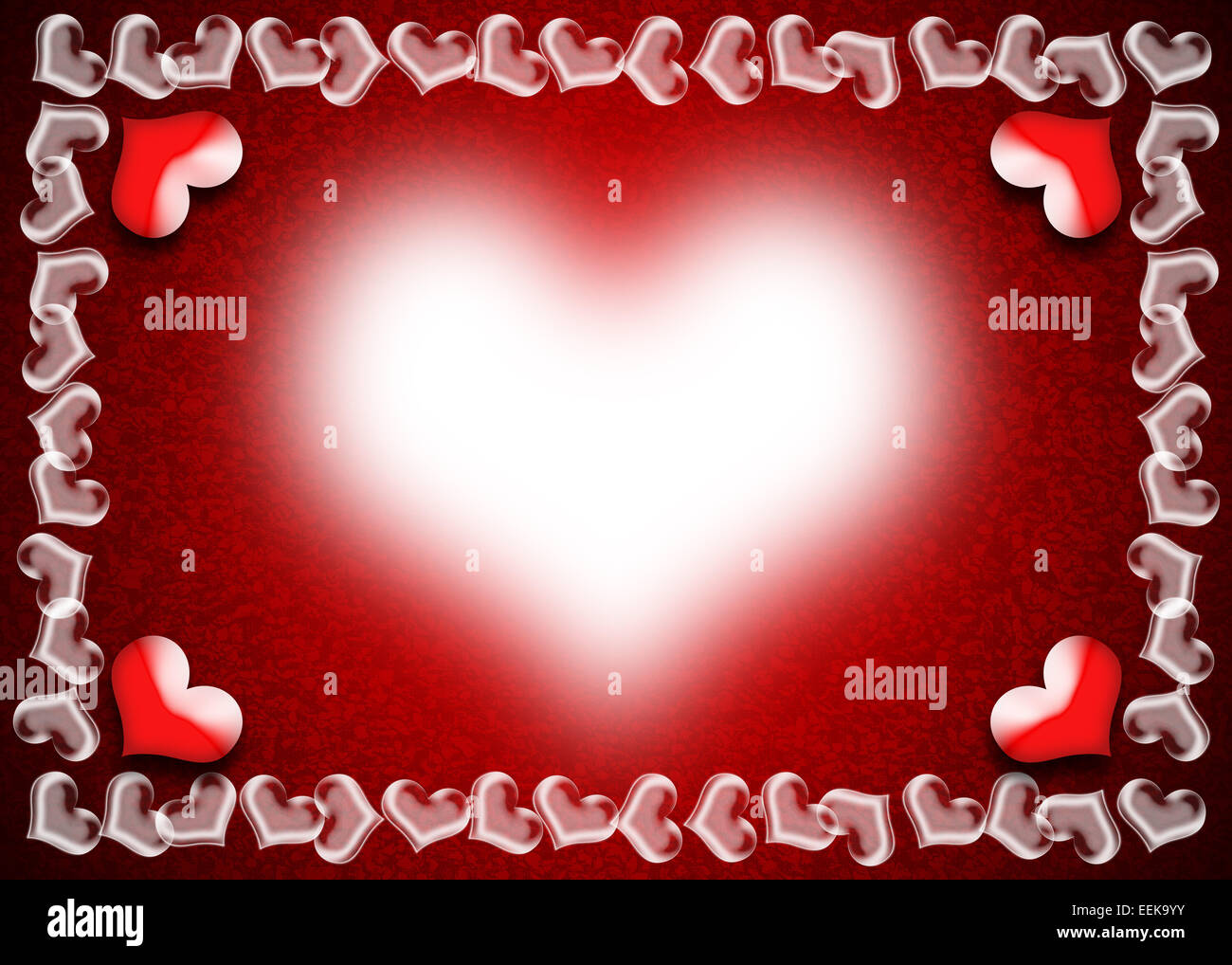 Valentine Day card, Heart frame on red and black background Stock ...