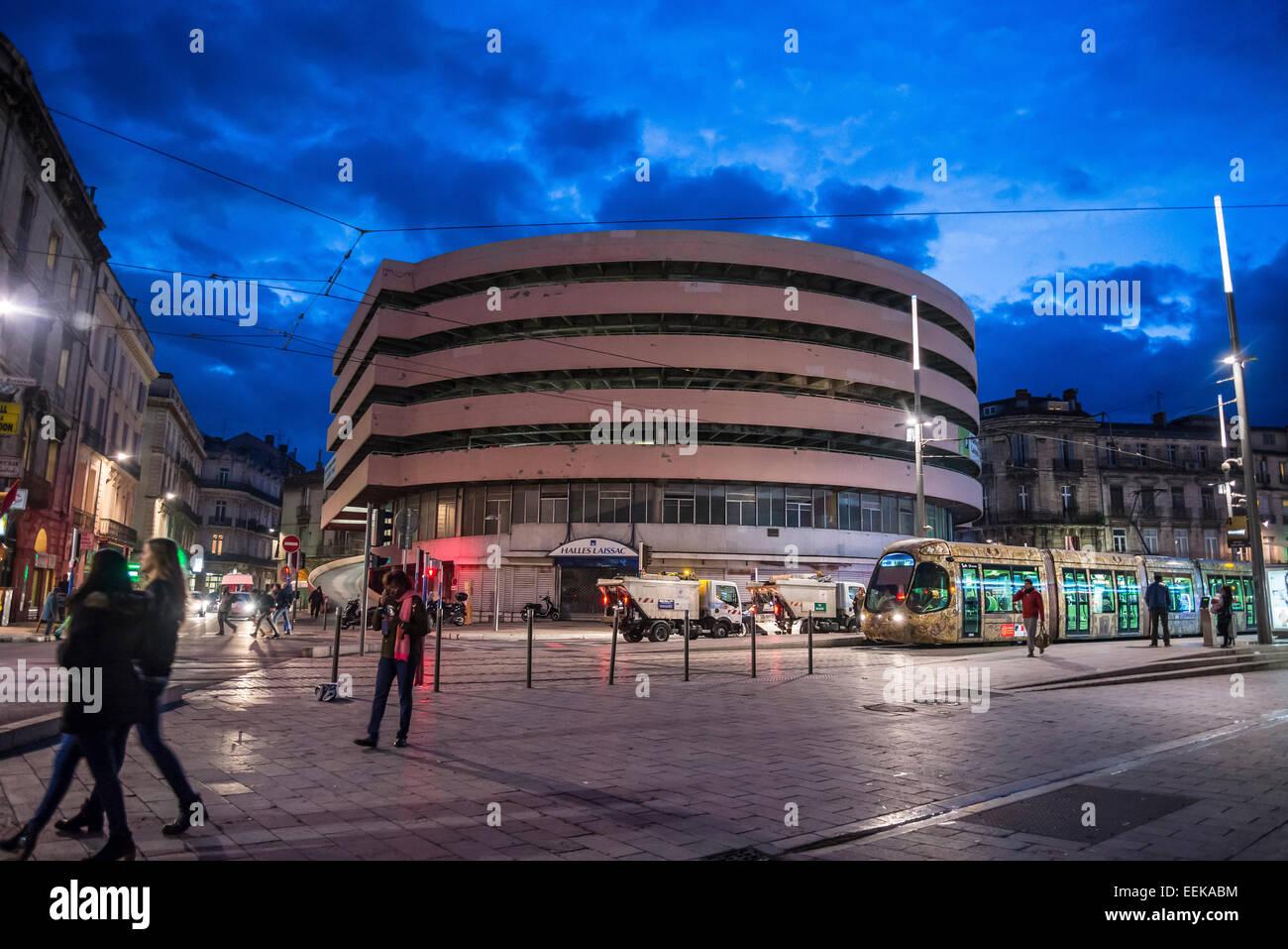 Halles Laissac, Multistory parking envisaged for demolition, Montpellier, France - Stock Image