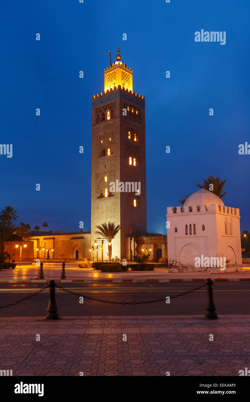 Koutoubia Mosque. Marrakech. Morocco. North Africa. Africa - Stock Image