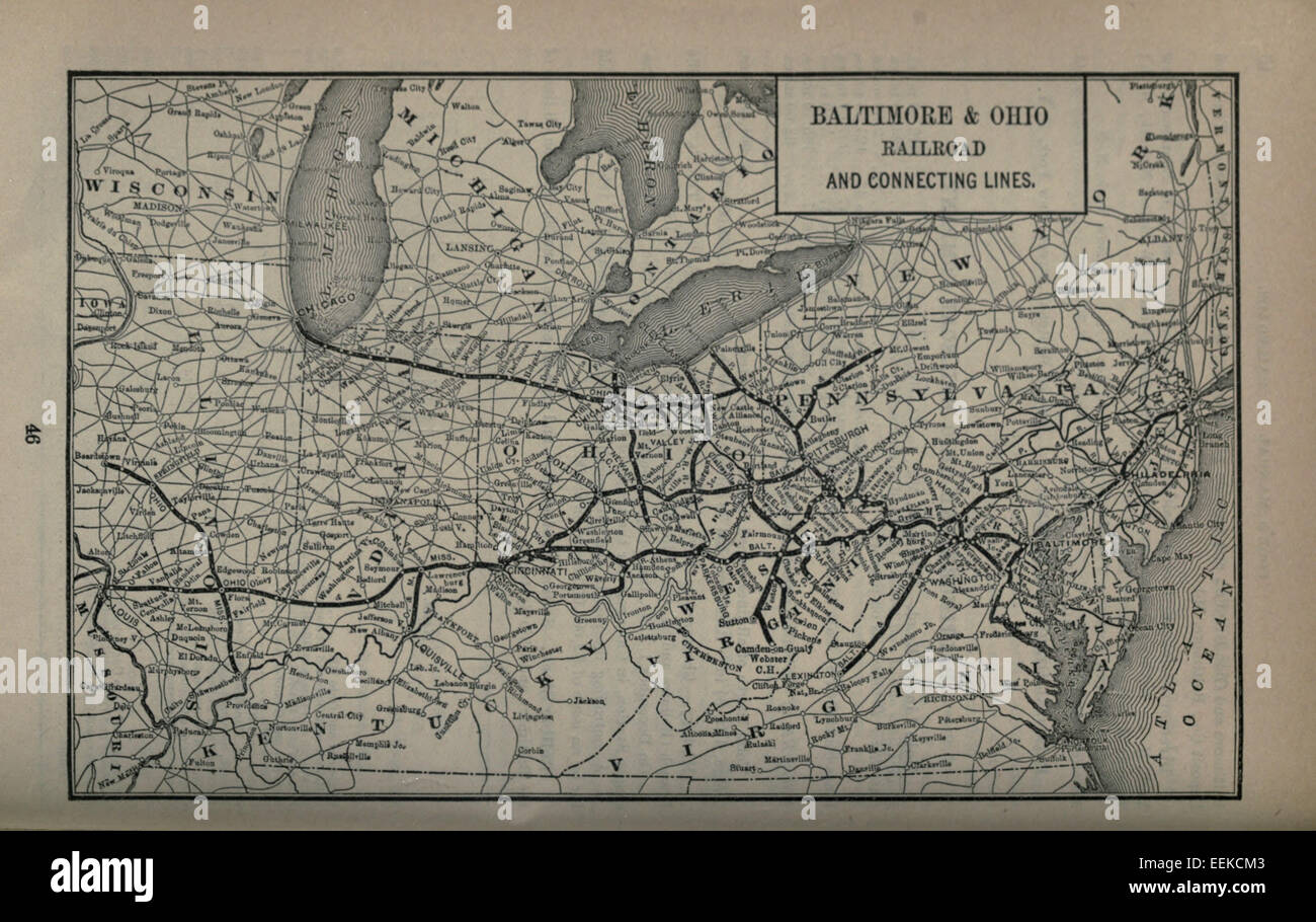1893 Poor's Baltimore and Ohio Railroad - Stock Image