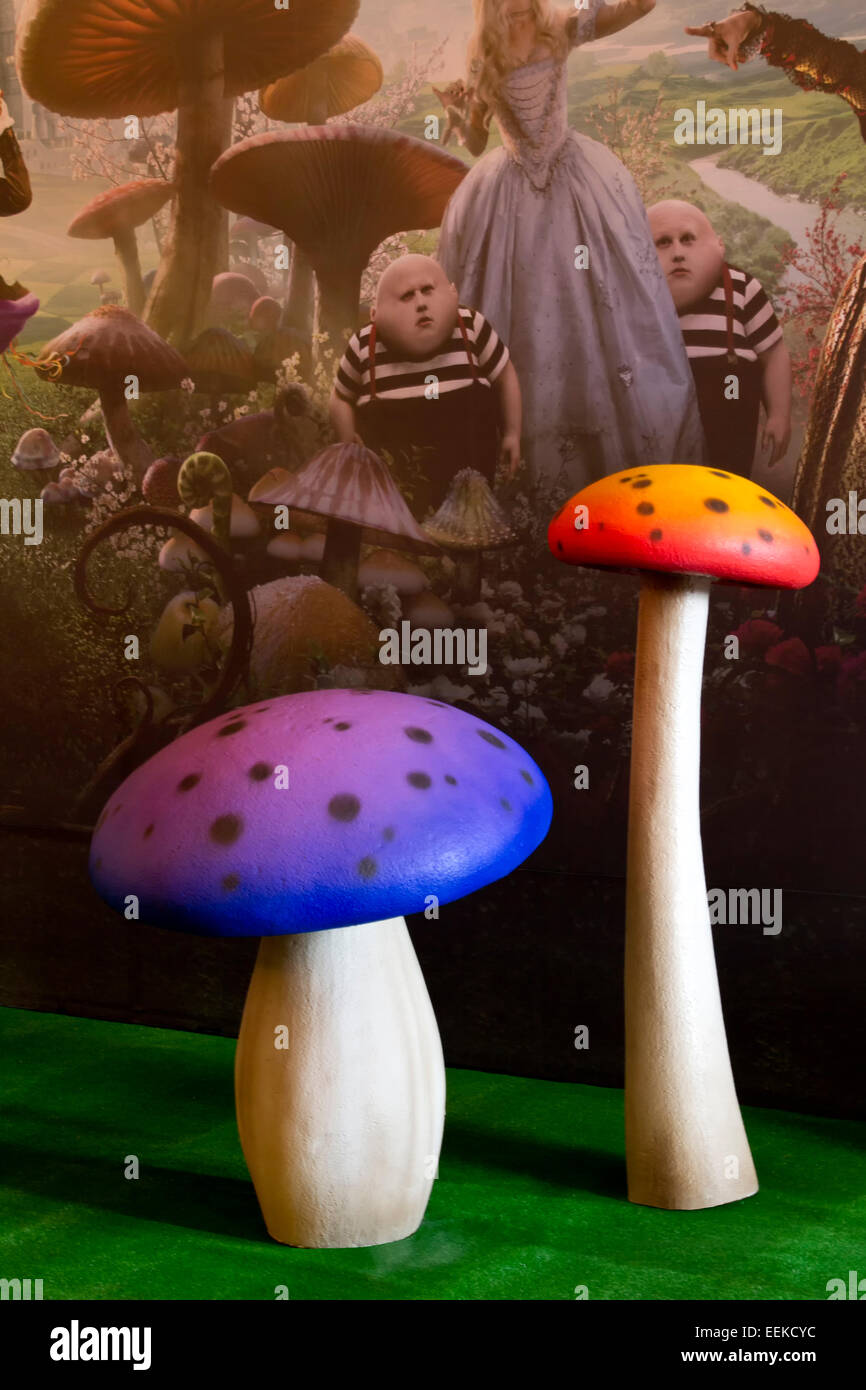 Two made mushrooms in fantasy wolrd - Stock Image