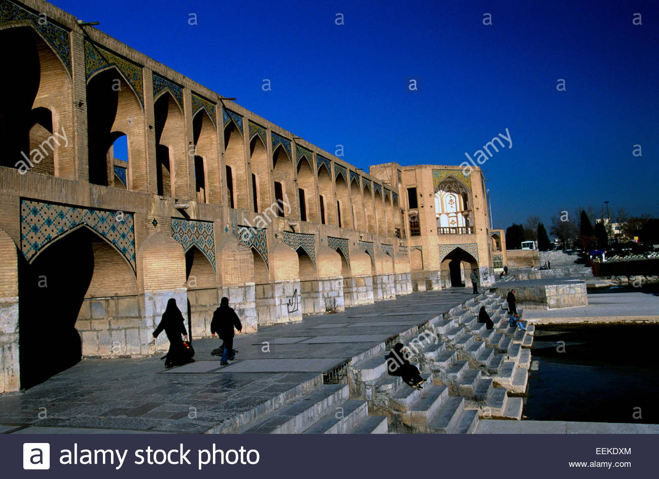 Iran, Ispahan, Khadju Pol, the Khaju bridge - Stock Image