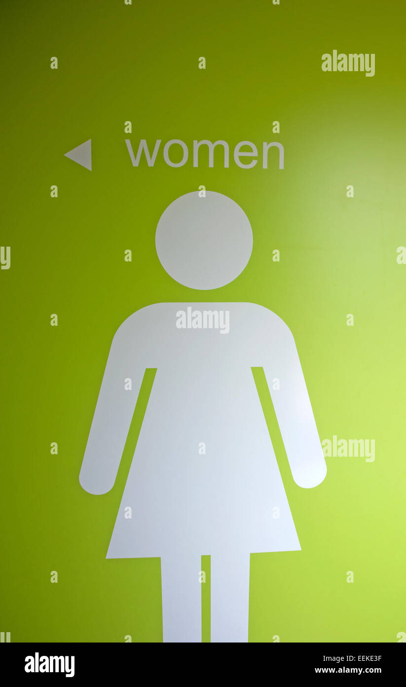 bathroom sign with arrow. Sign Indicating Women\u0027s Washroom And Pointing The Way With Arrow - Stock Image Bathroom