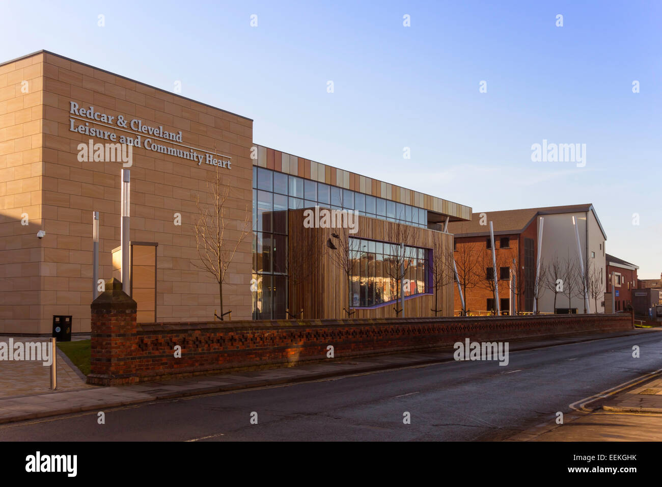 Redcar and Cleveland local authority Leisure and Community Heart building built 2013 - Stock Image