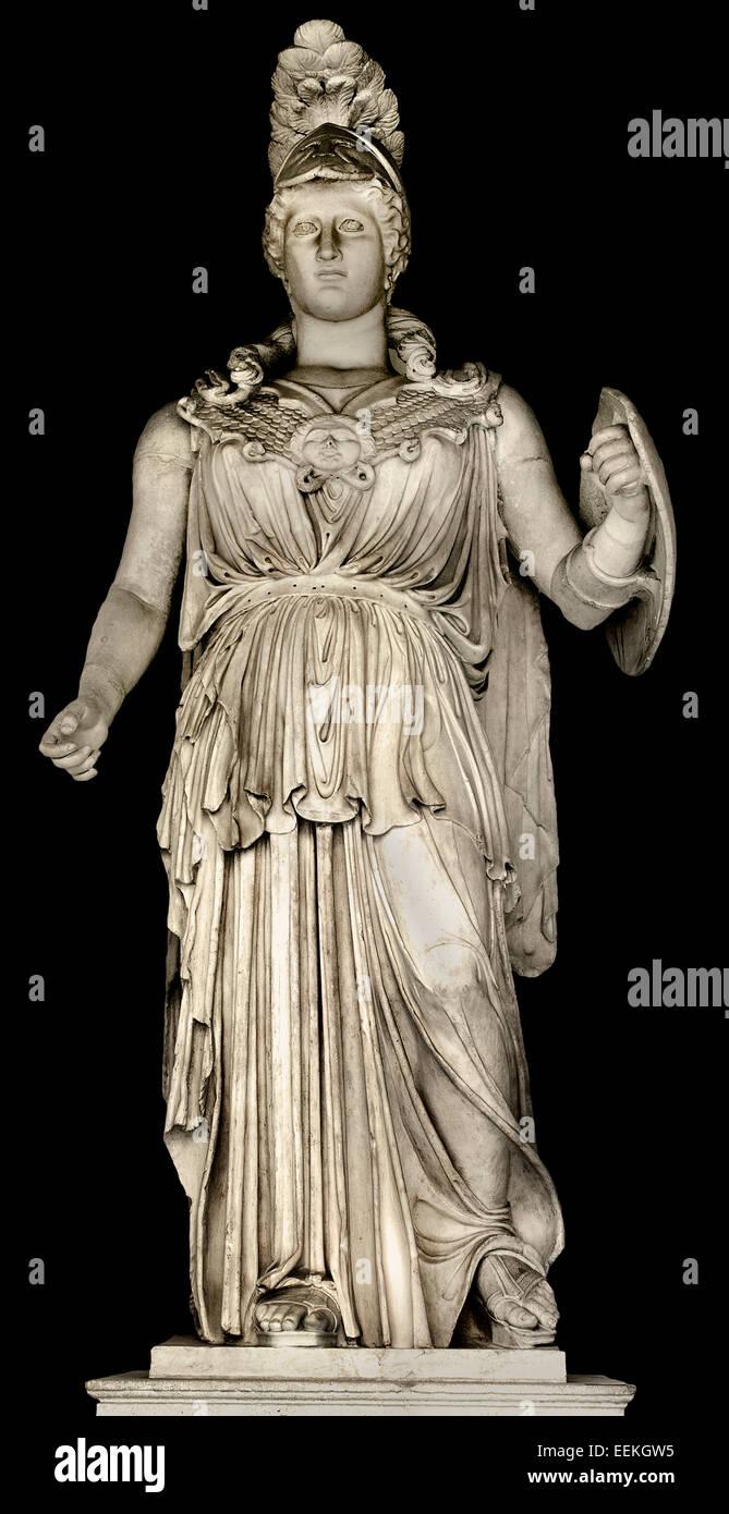 Statue of Minerva Sculpture 2nd century BC Marble cm 321 Roman Rome Capitoline Museum Italy Italian - Stock Image