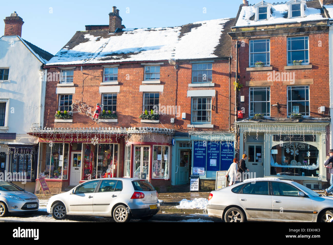 village of Wirksworth in Derbyshire Dales,England - Stock Image